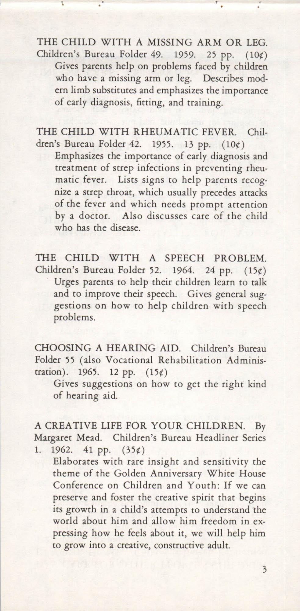 Publications of the Children's Bureau, Page 3