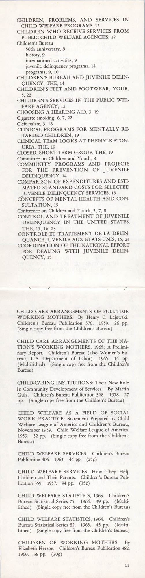 Publications of the Children's Bureau, Page 11