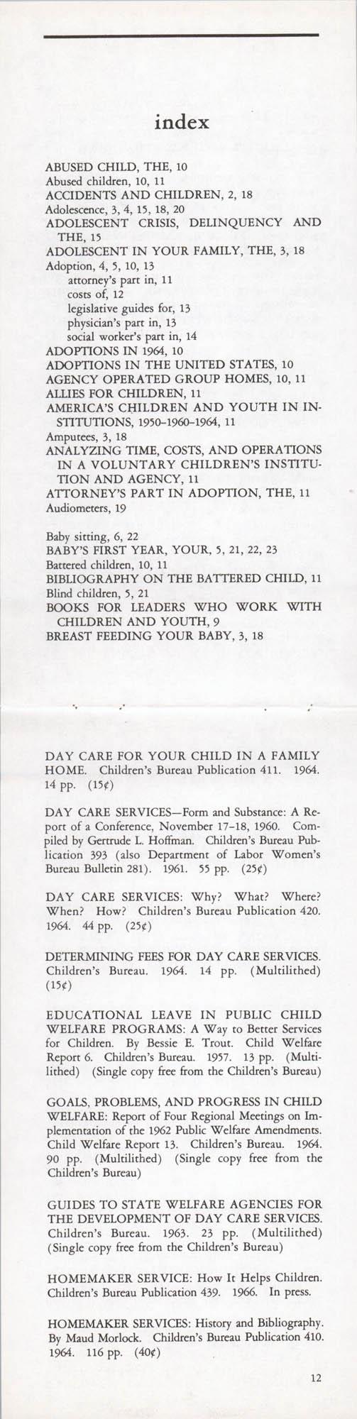 Publications of the Children's Bureau, Page 12