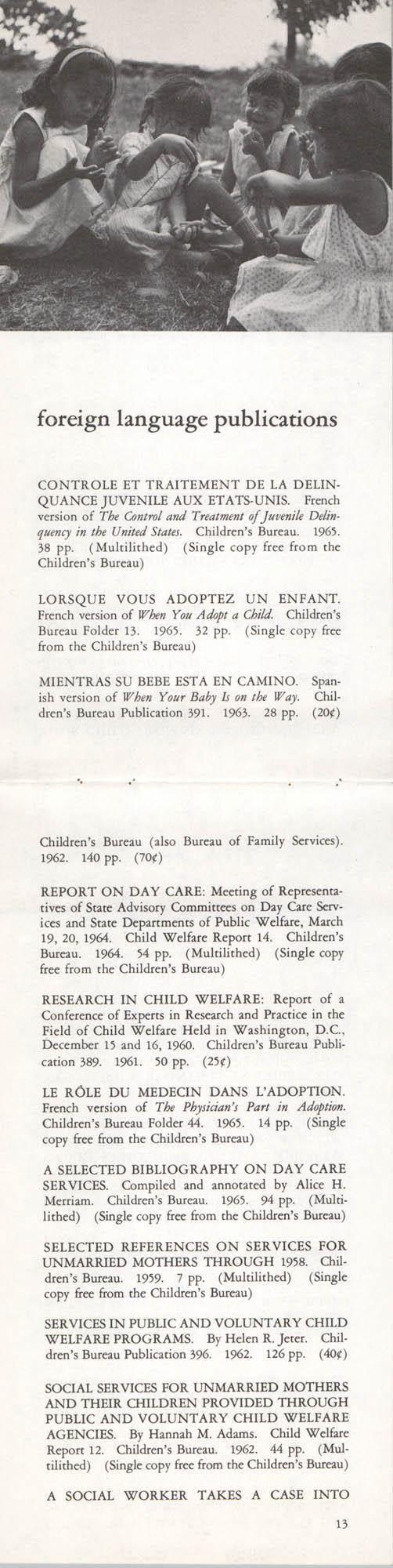 Publications of the Children's Bureau, Page 13