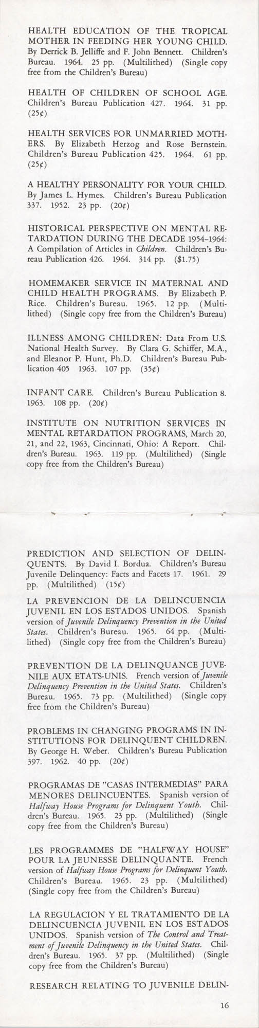 Publications of the Children's Bureau, Page 16