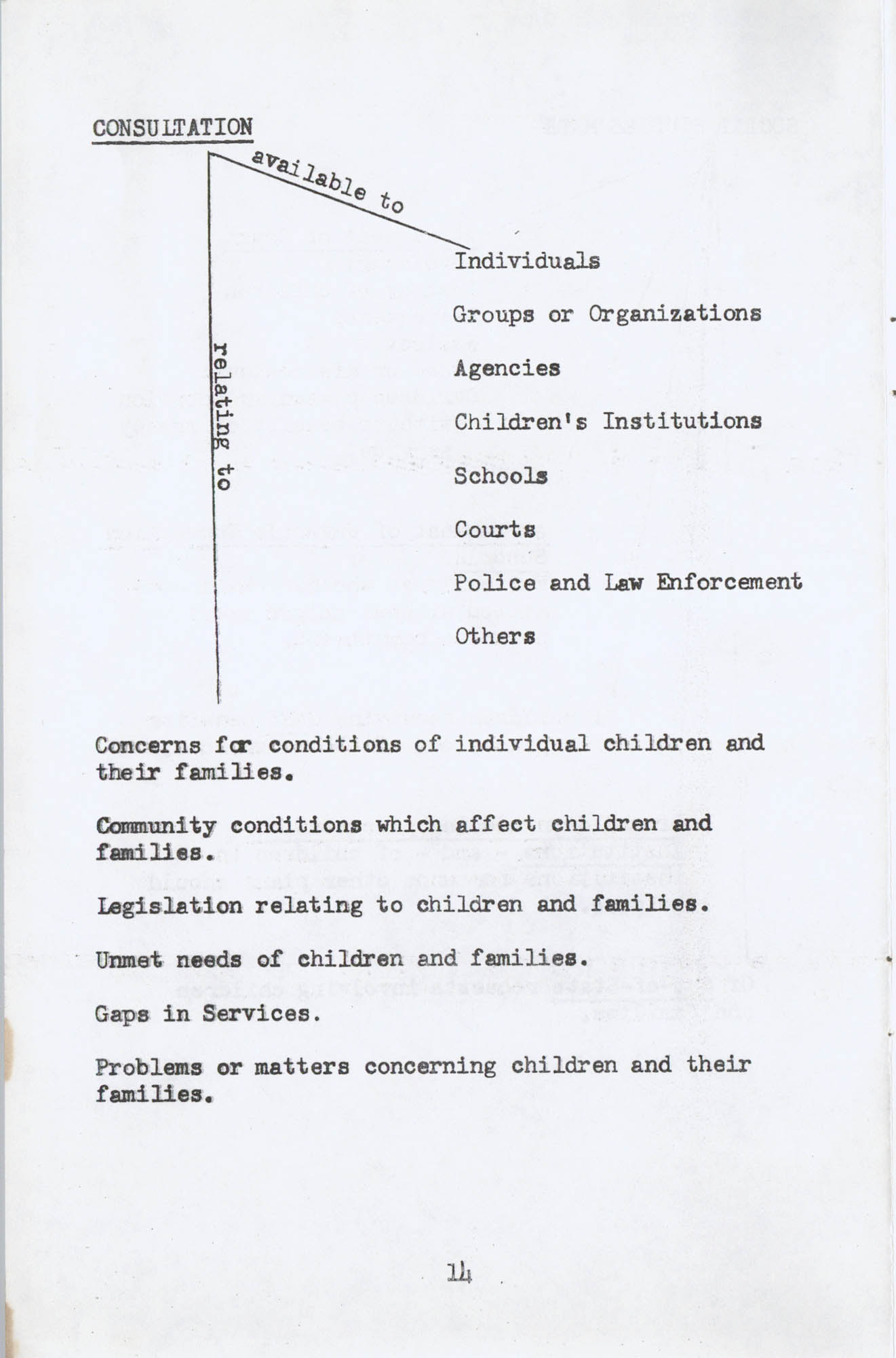 Social Services for Children and Families with Children, Page 14