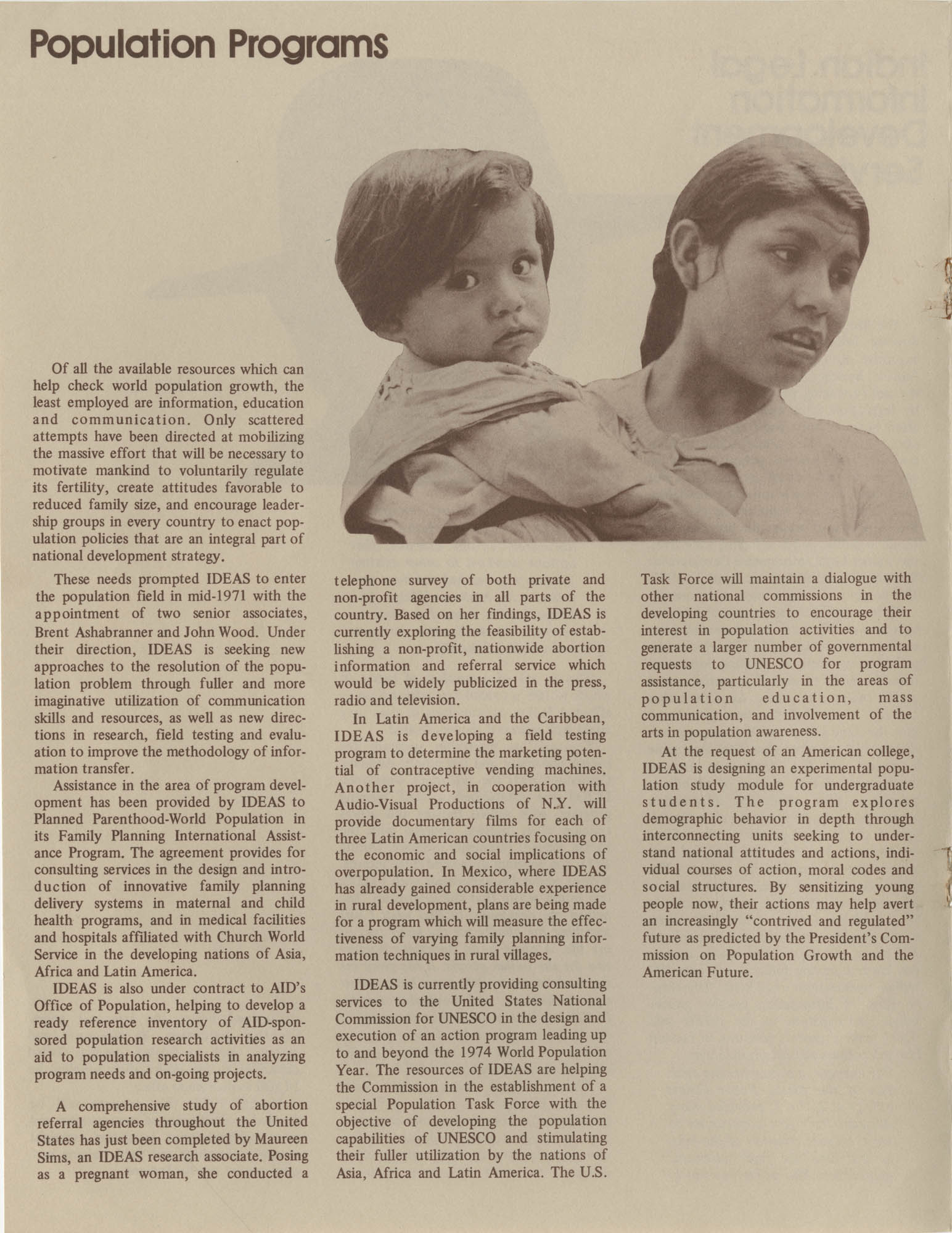 IDEAS, Spring Report 1972, Page 4