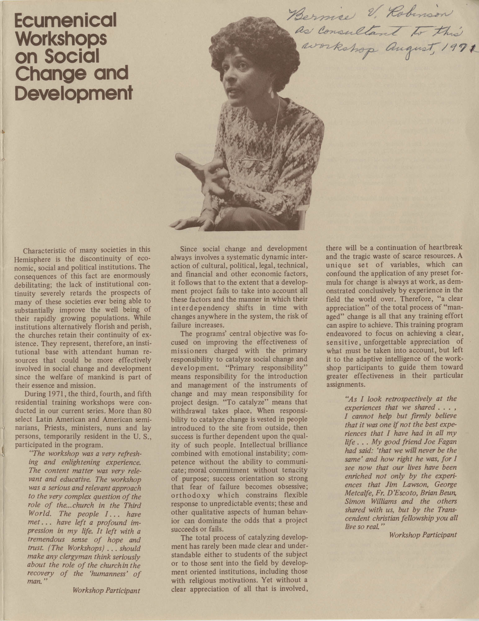 IDEAS, Spring Report 1972, Page 7