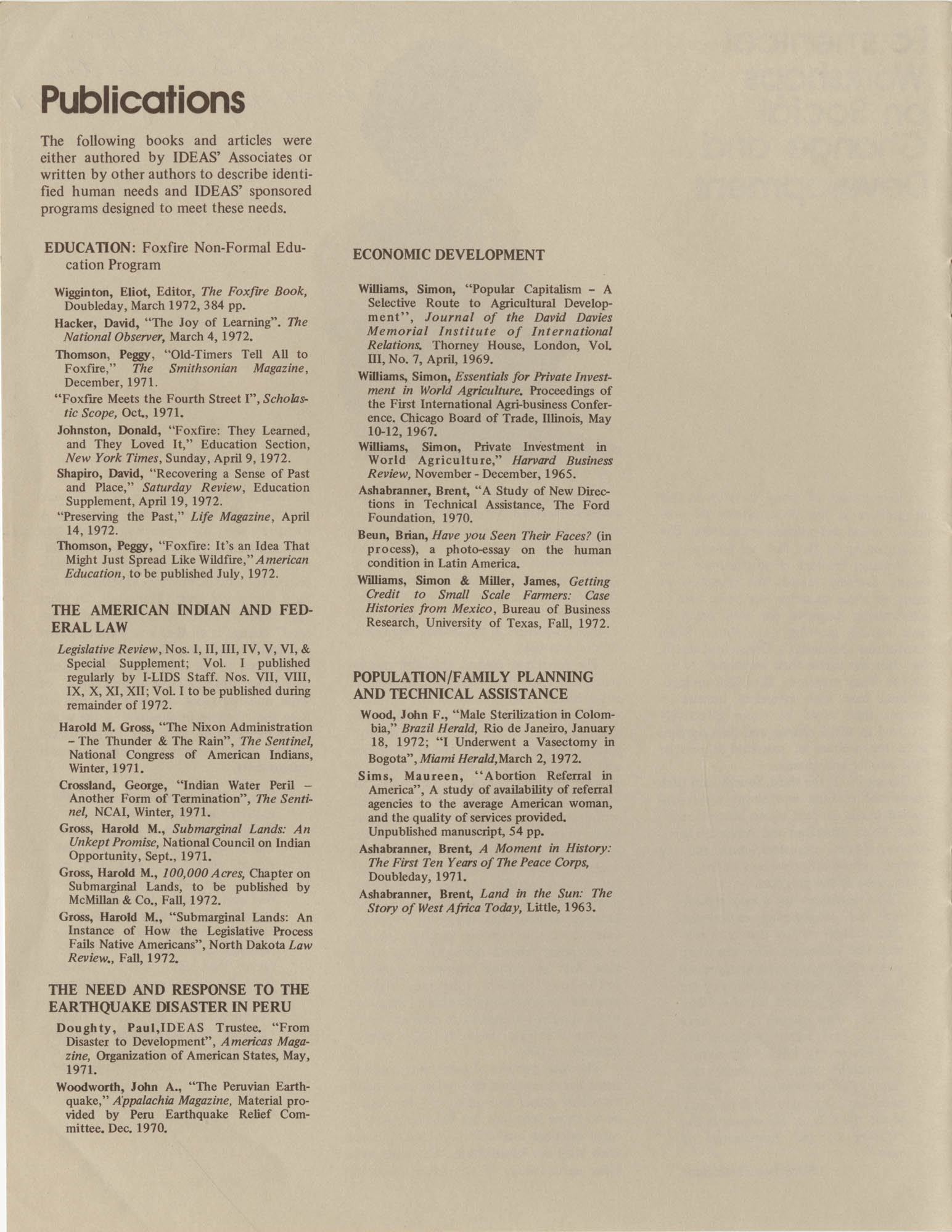 IDEAS, Spring Report 1972, Page 8