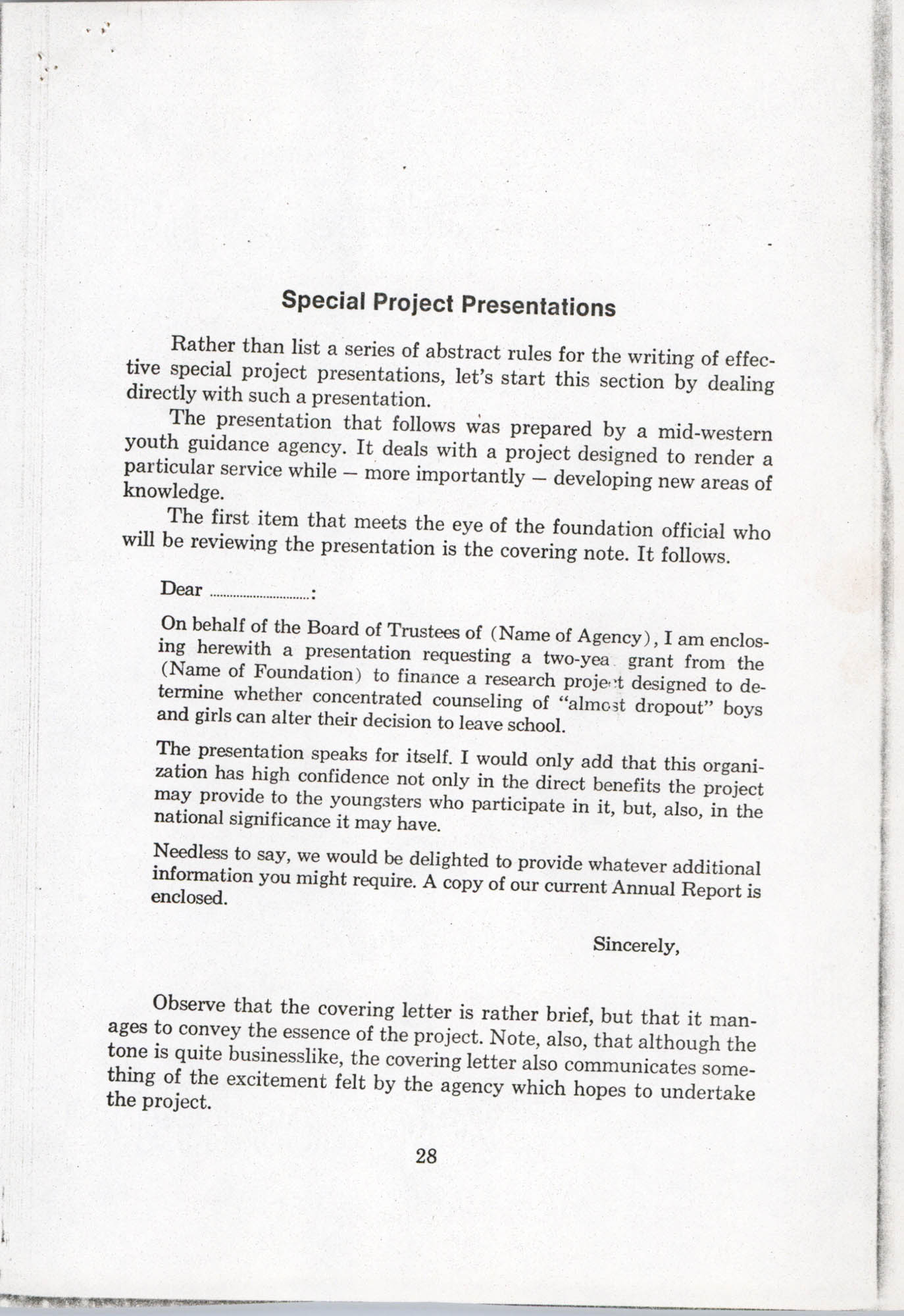 How To Write Successful Foundation Presentations, Page 28