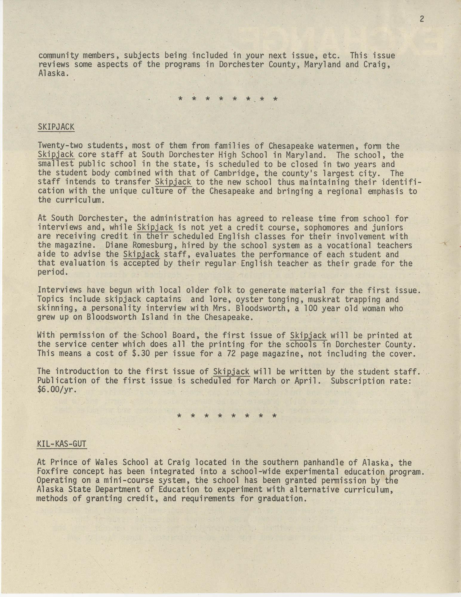 Exchange, Vol. 1, No. 1, Page 2