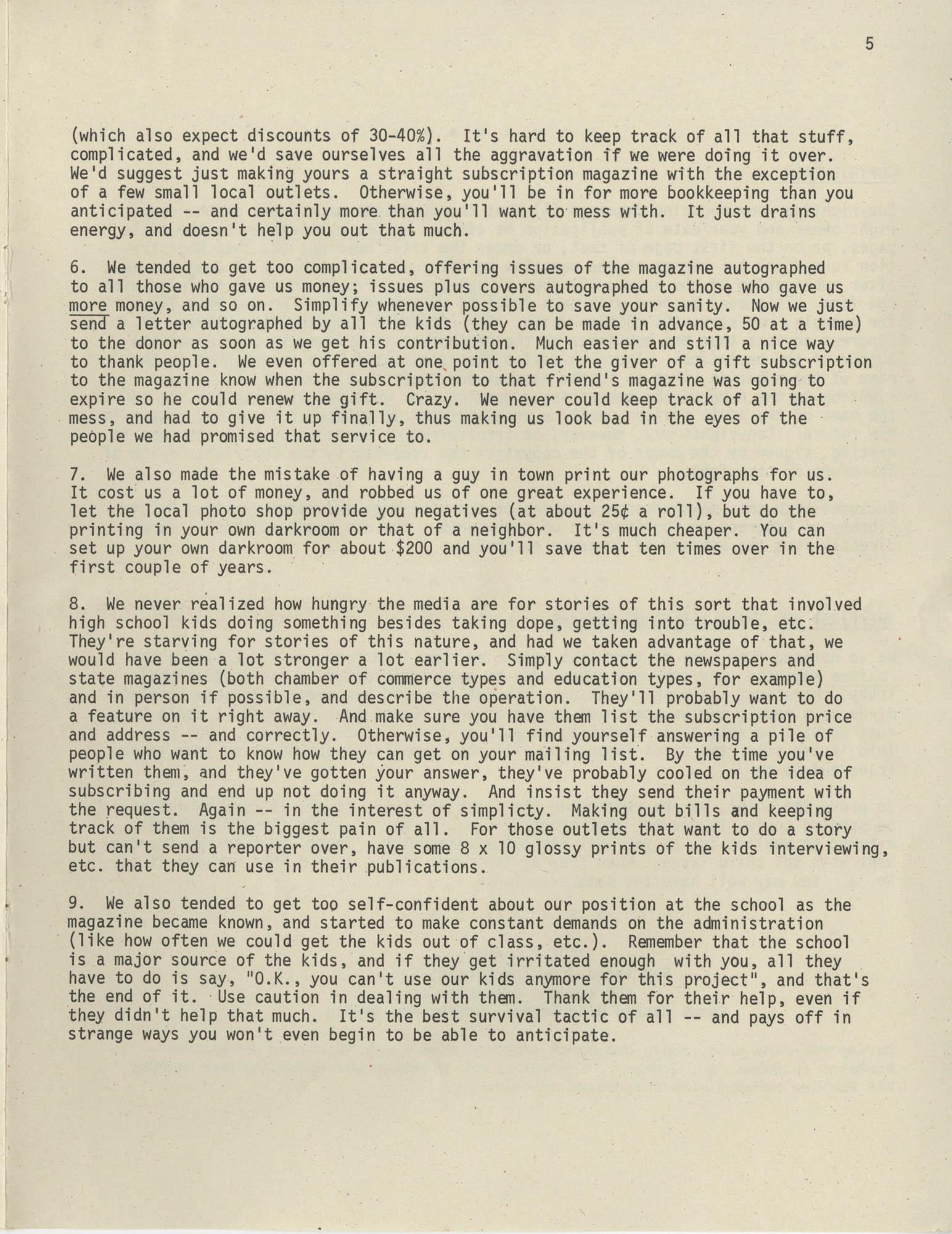 Exchange, Vol. 1, No. 1, Page 5