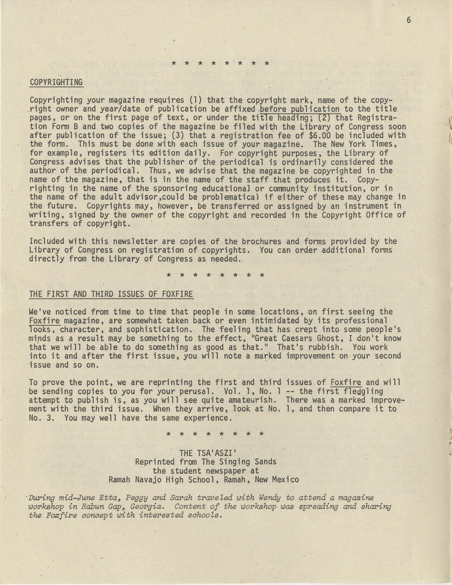 Exchange, Vol. 1, No. 1, Page 6