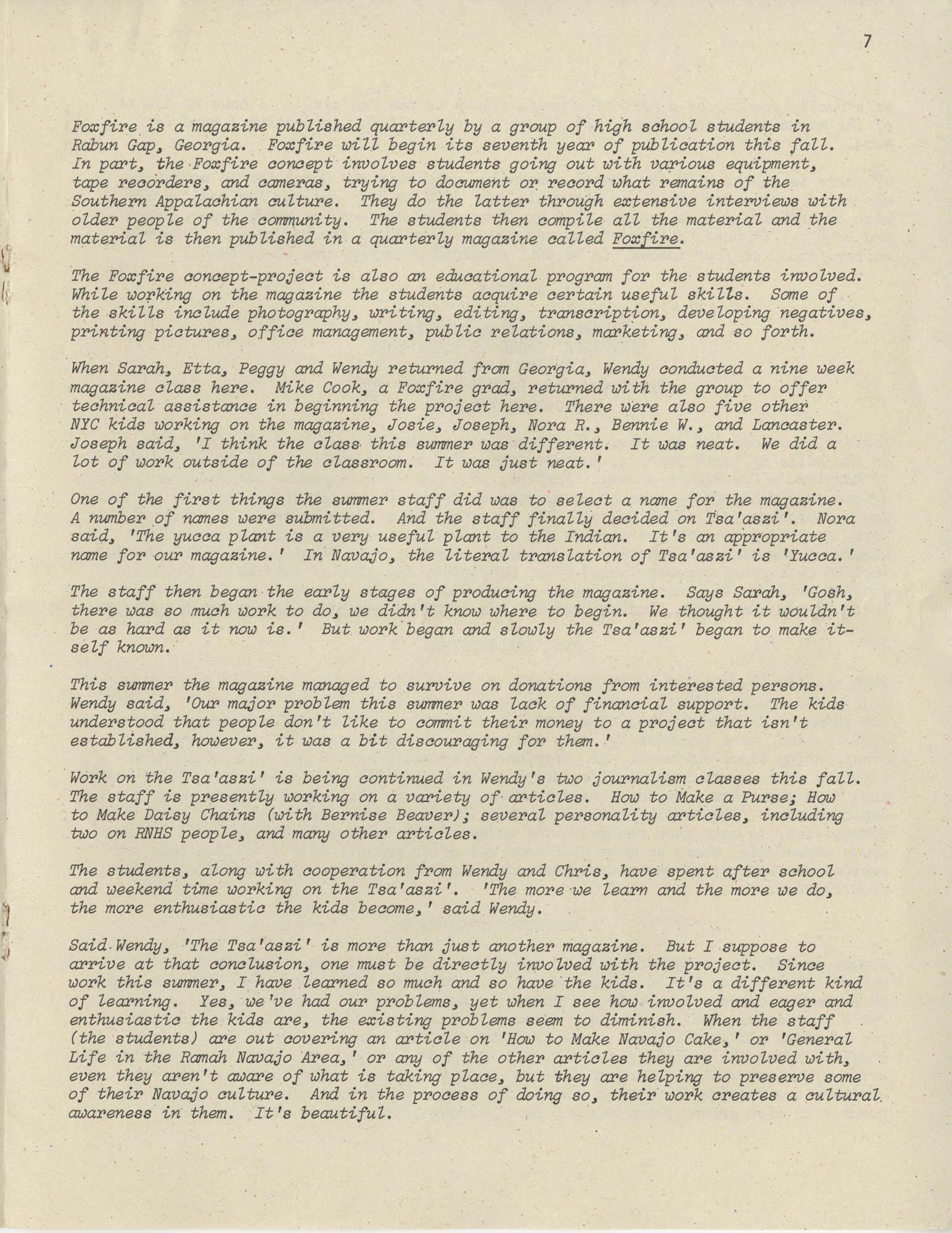 Exchange, Vol. 1, No. 1, Page 7