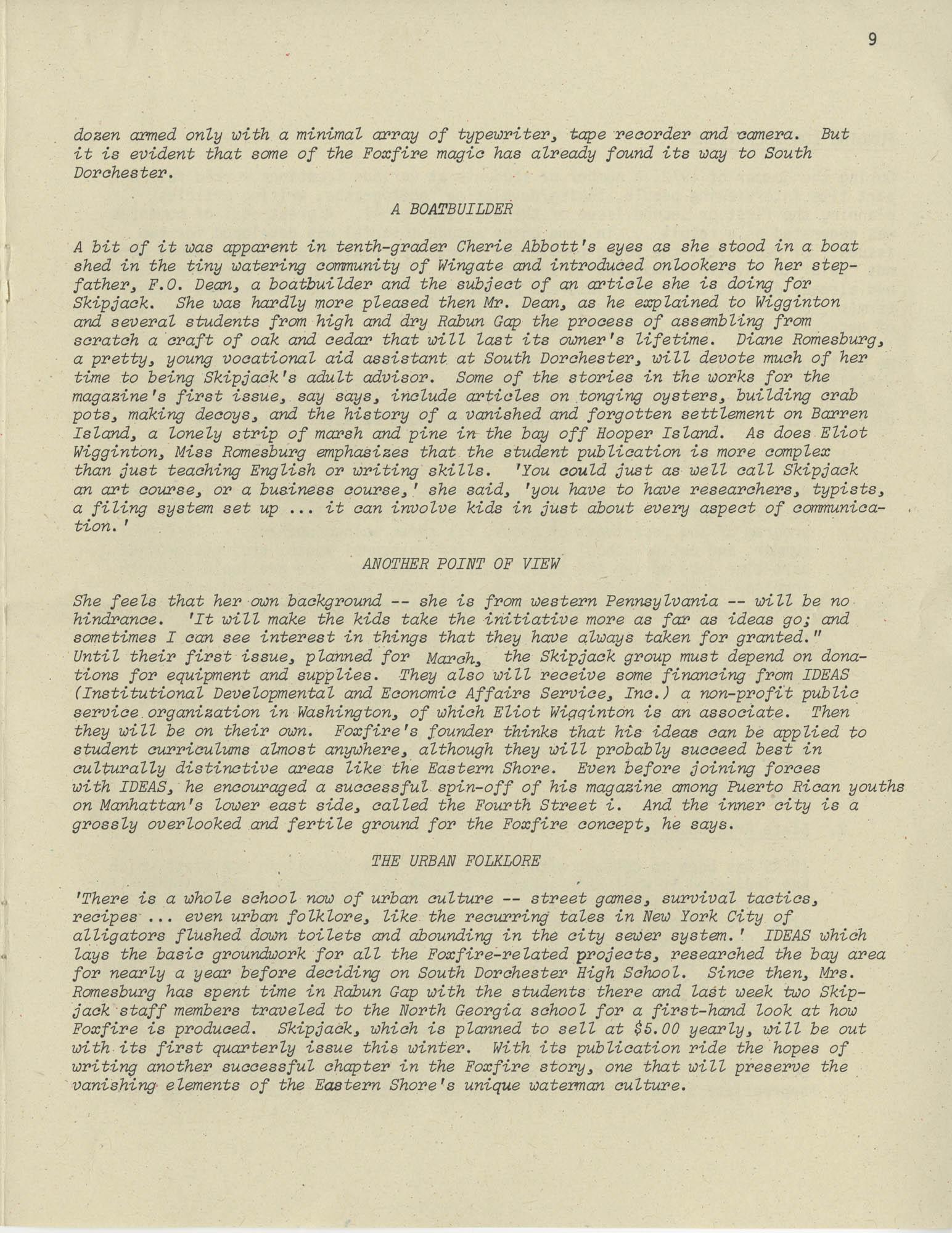 Exchange, Vol. 1, No. 1, Page 9