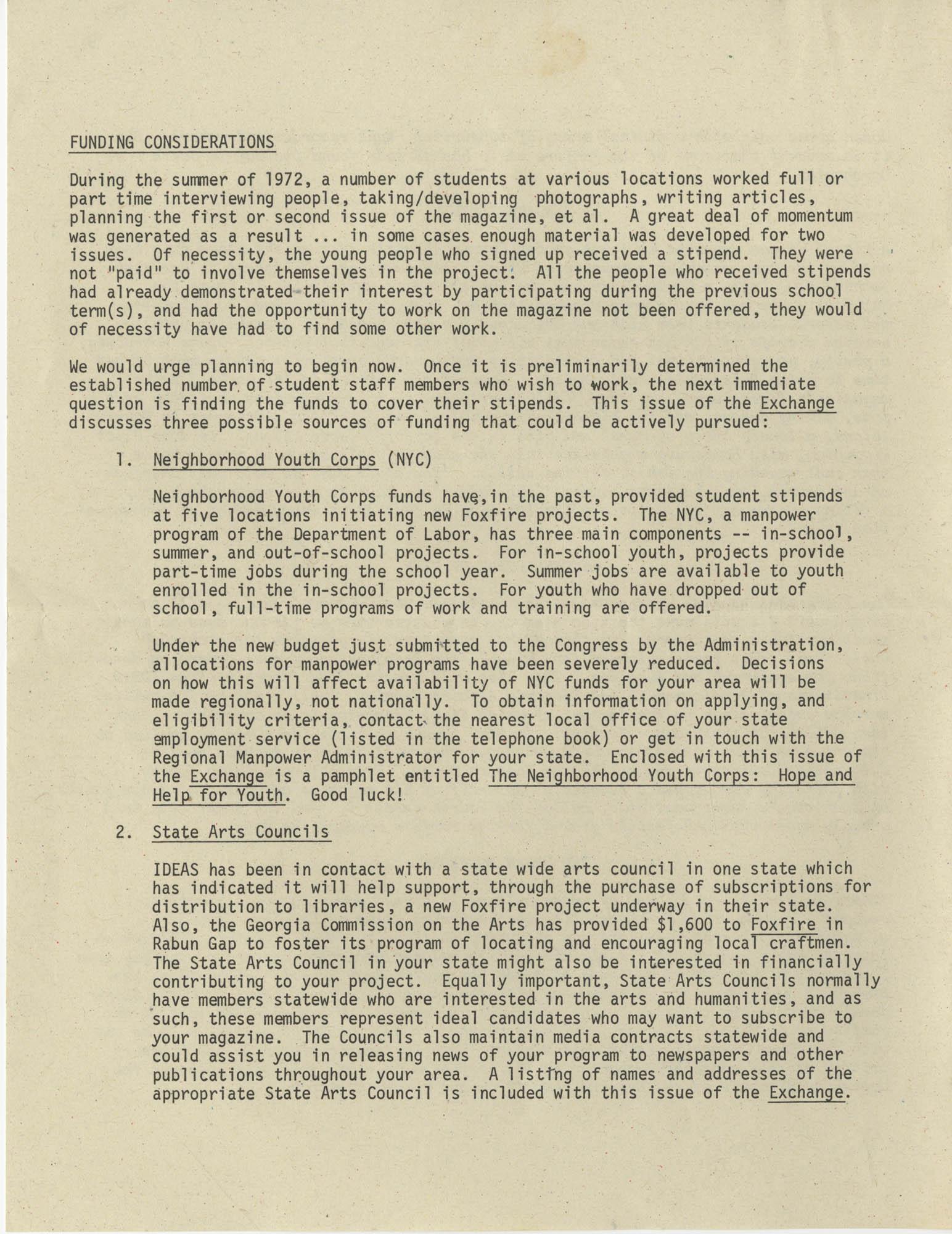 Exchange, Vol. 1, No. 1, Page 10