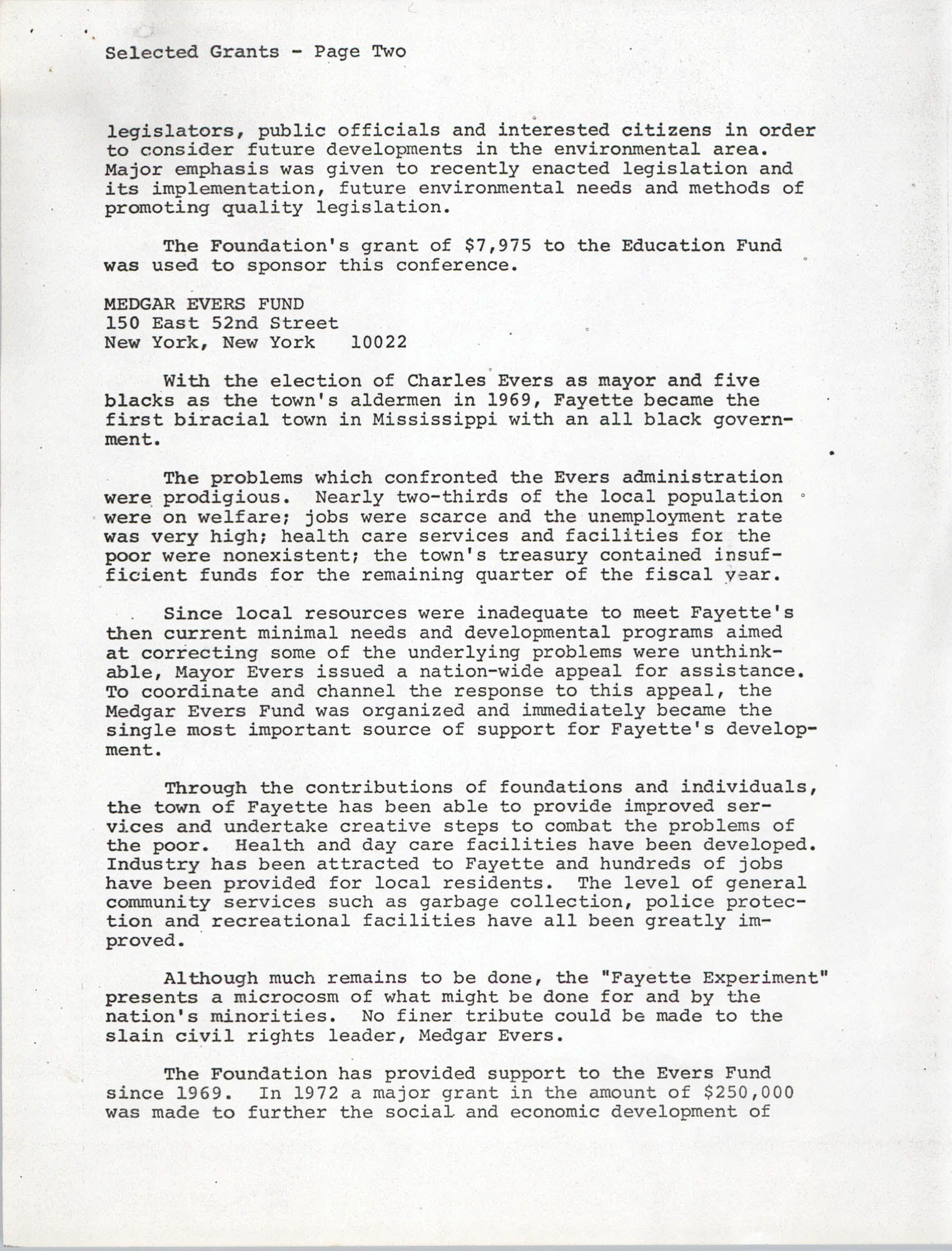 Josephine H. McIntosh Foundation Grant-Making Activities Report for 1972, Selected Grants Page 2