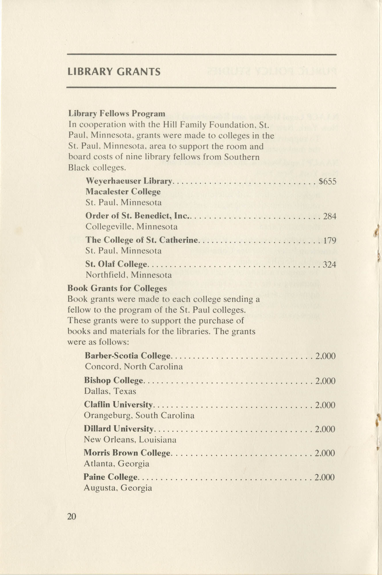 Southern Education Foundation, Annual Report 1971-1972, Page 20