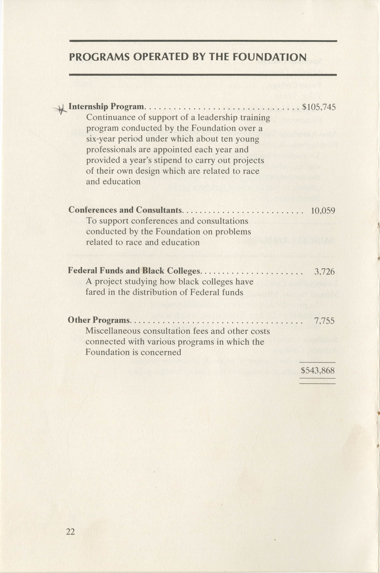 Southern Education Foundation, Annual Report 1971-1972, Page 22