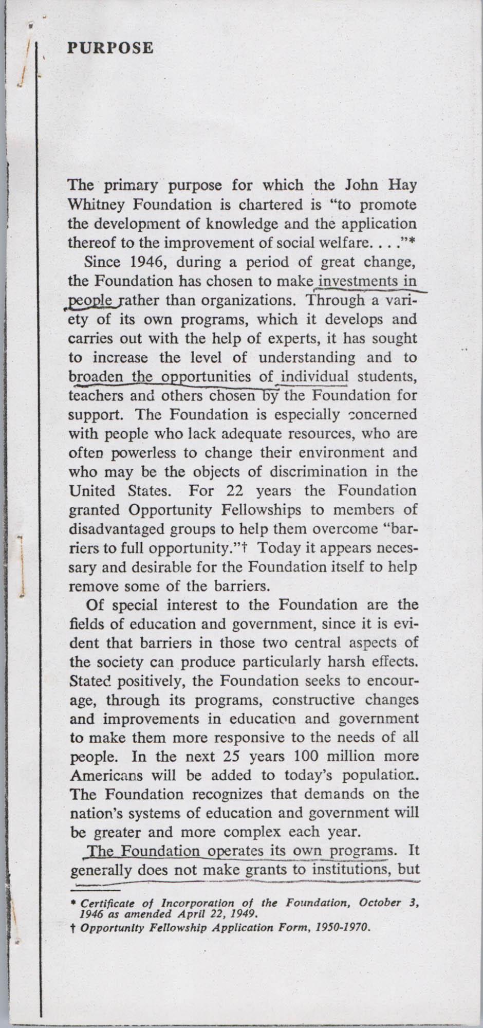 John Hay Whitney Foundation, Page 2