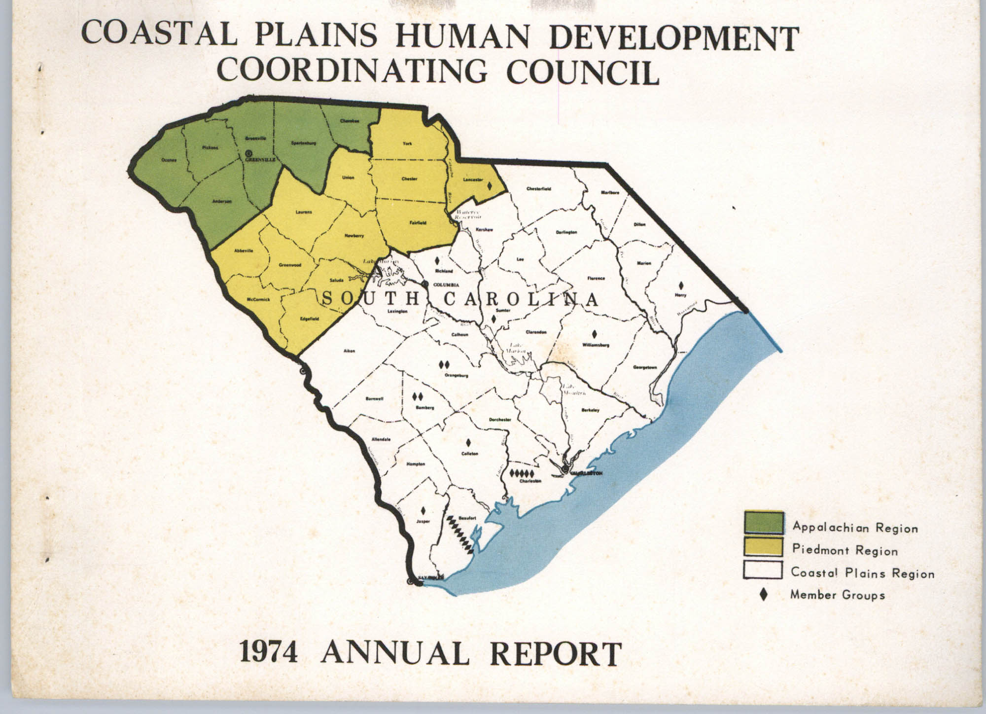 Coastal Plains Human Development Coordinating Council, 1974 Annual Report, Front Cover Exterior