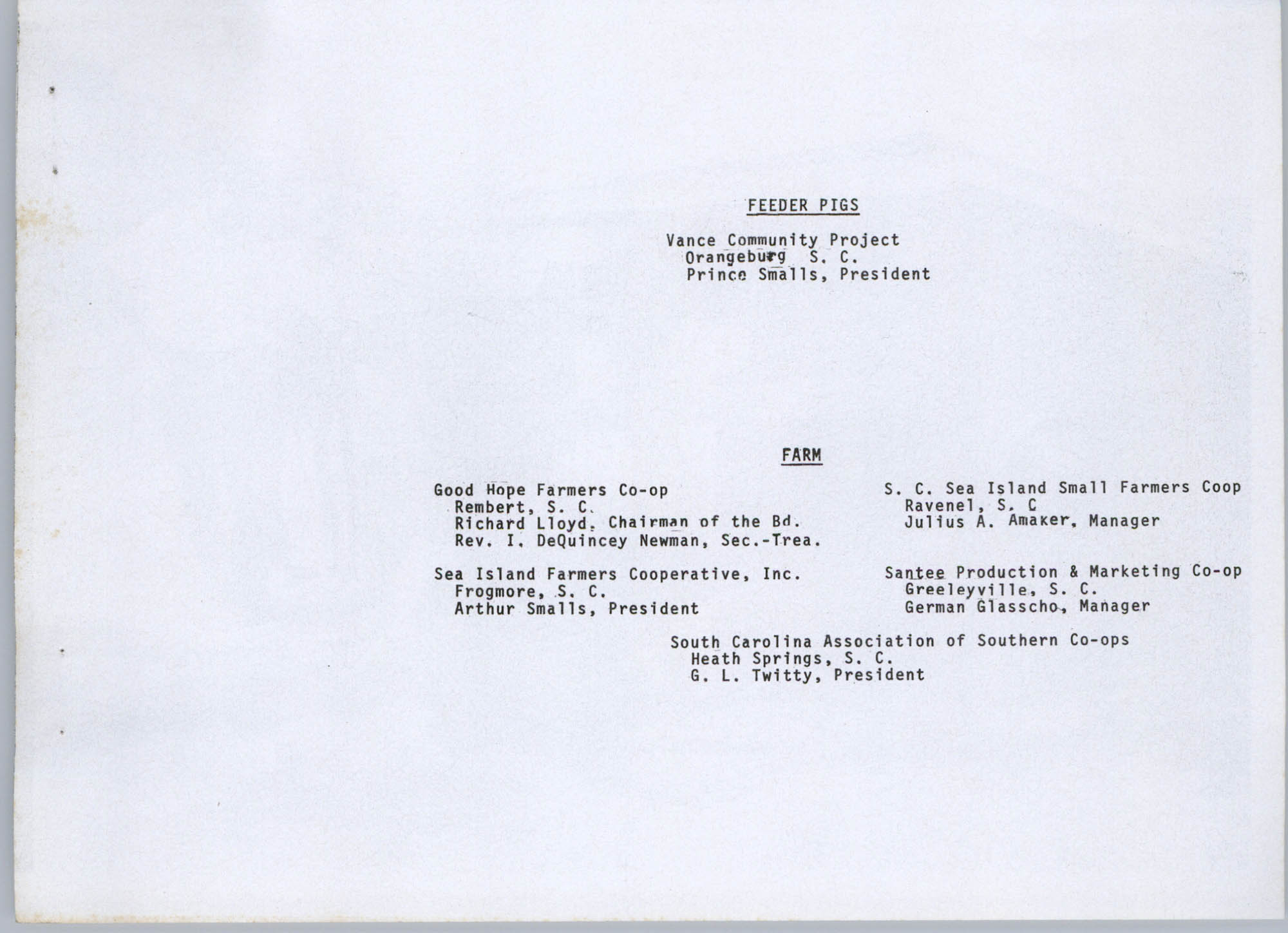 Coastal Plains Human Development Coordinating Council, 1974 Annual Report, Page 9