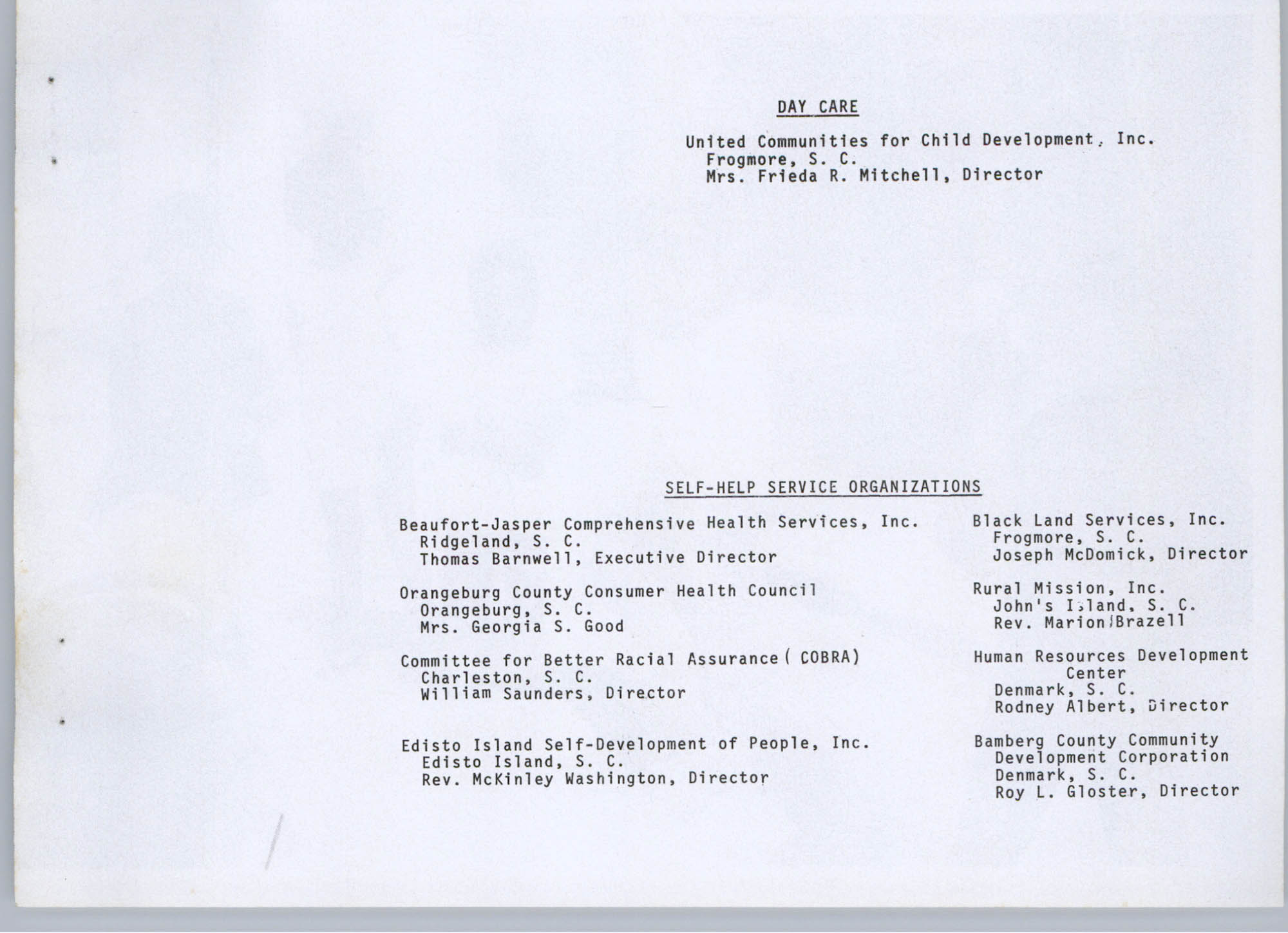 Coastal Plains Human Development Coordinating Council, 1974 Annual Report, Page 11