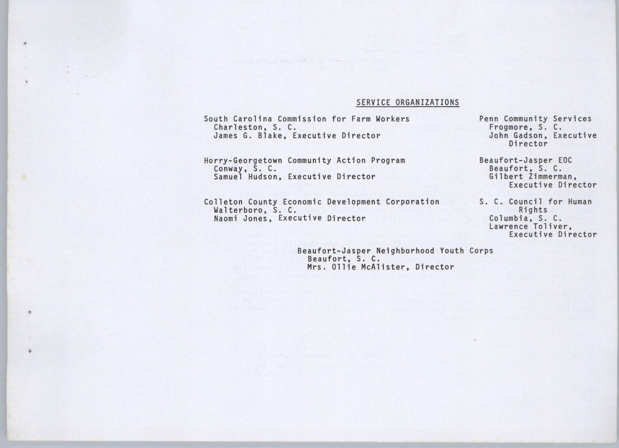 Coastal Plains Human Development Coordinating Council, 1974 Annual Report, Page 13