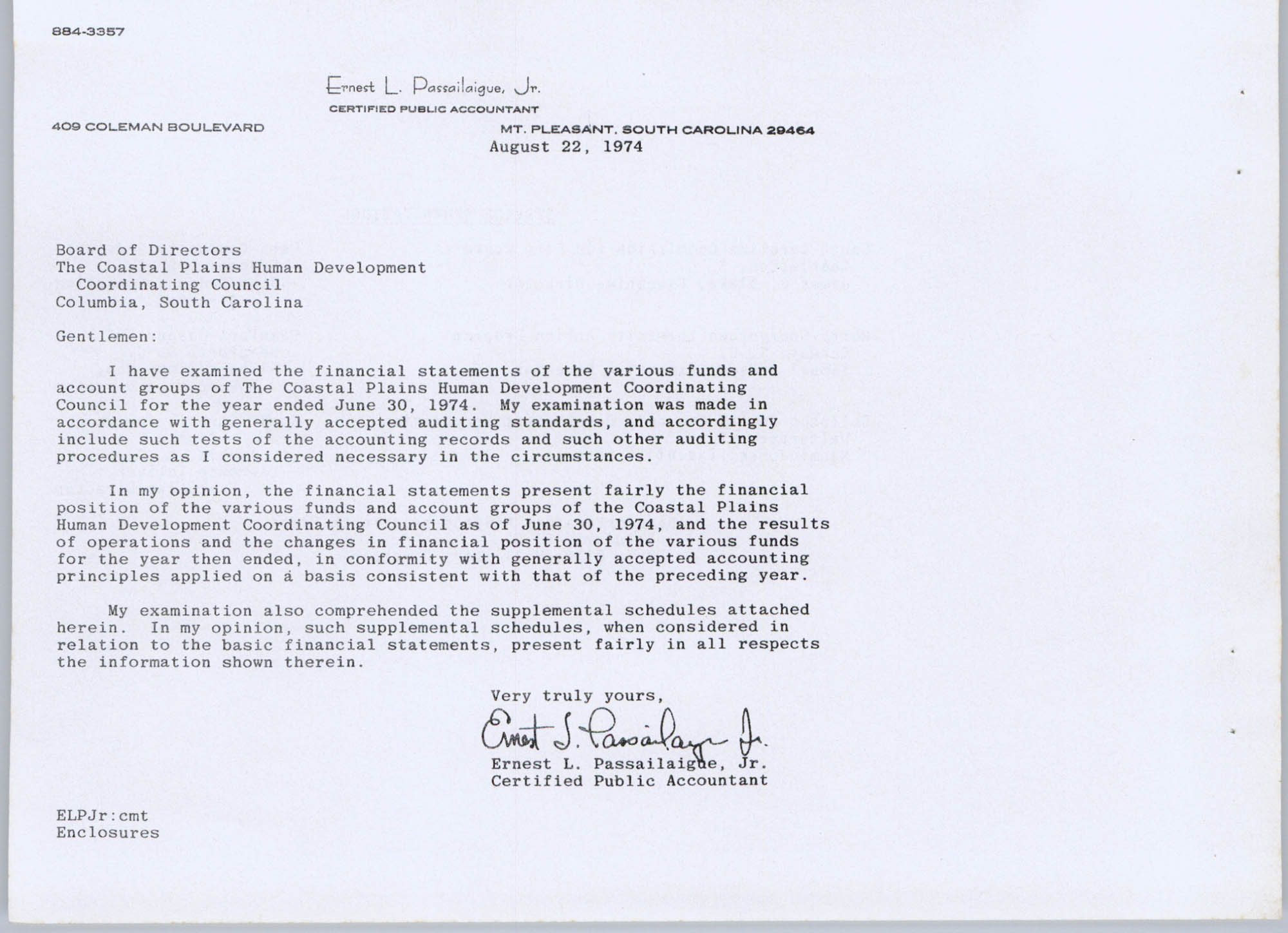 Coastal Plains Human Development Coordinating Council, 1974 Annual Report, Page 14