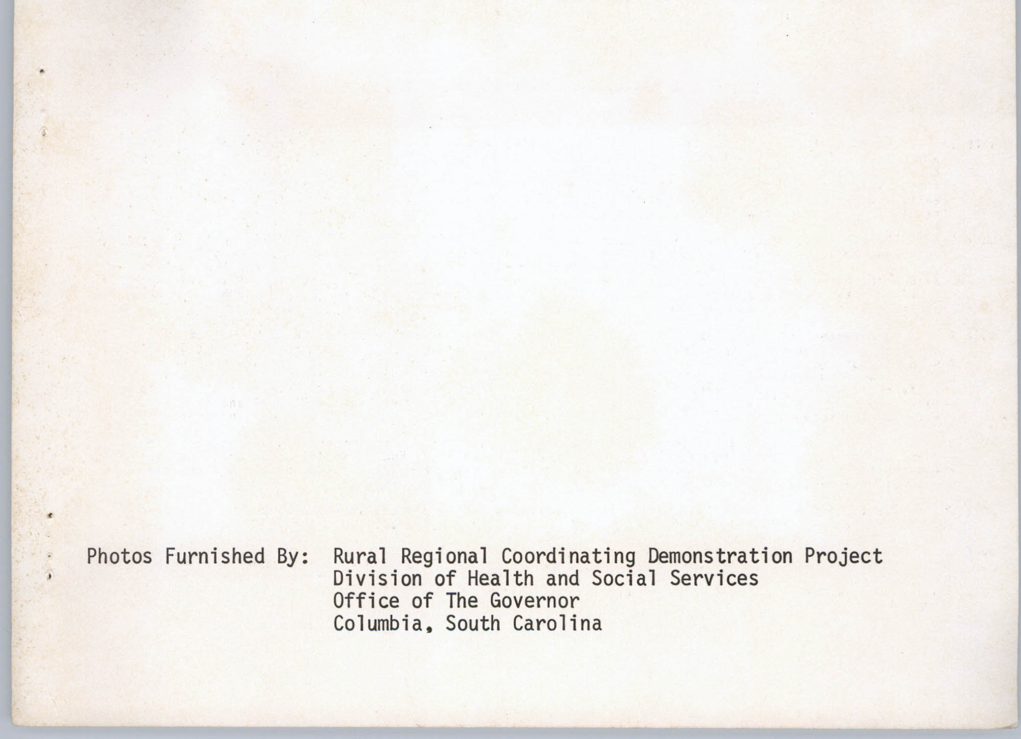 Coastal Plains Human Development Coordinating Council, 1974 Annual Report, Back Cover Interior