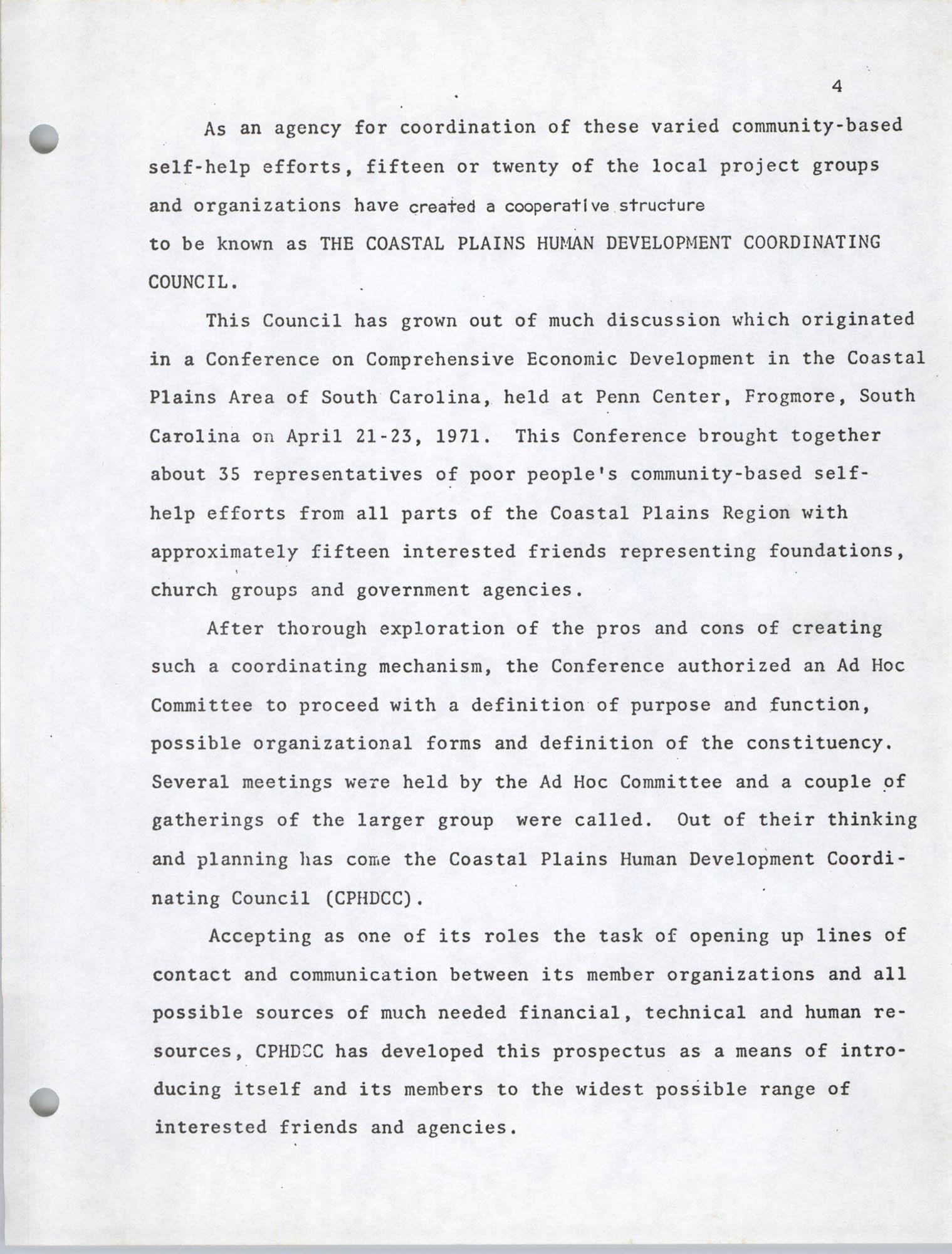 Coastal Plains Human Development Coordinate Council, Page 4