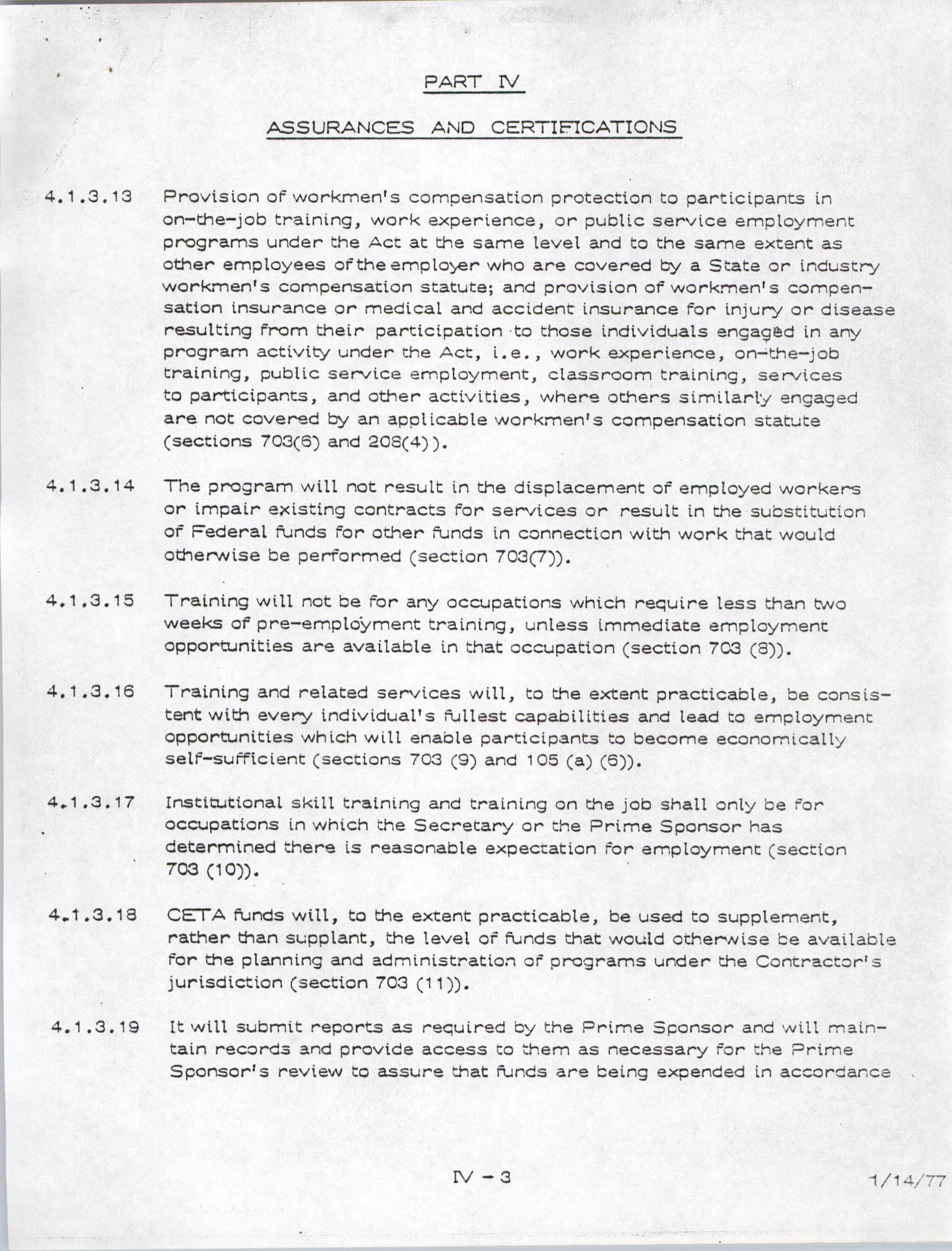 Assurances and Certifications, Page 3