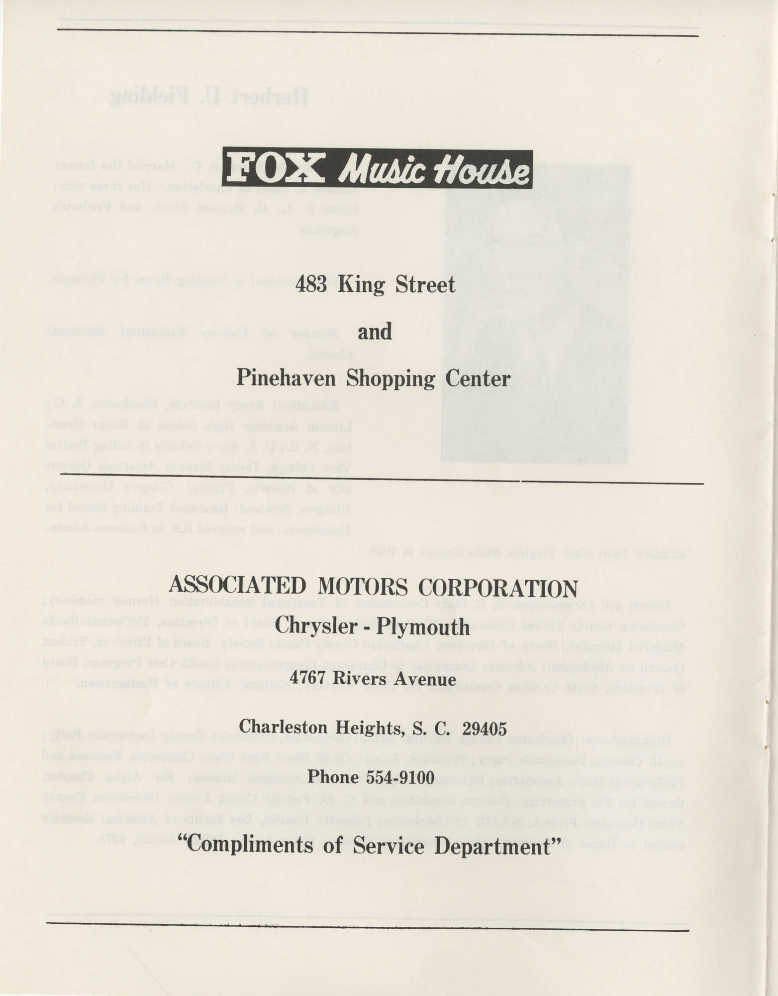 1972 Appreciation Dinner Program, Page 2