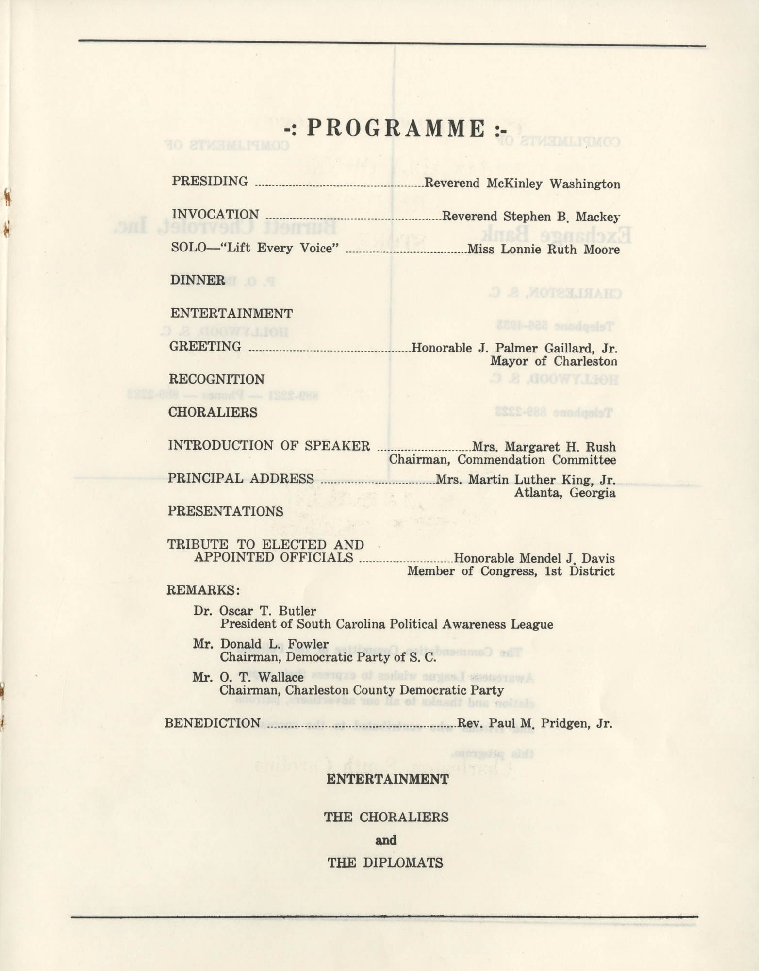 1972 Appreciation Dinner Program, Page 15