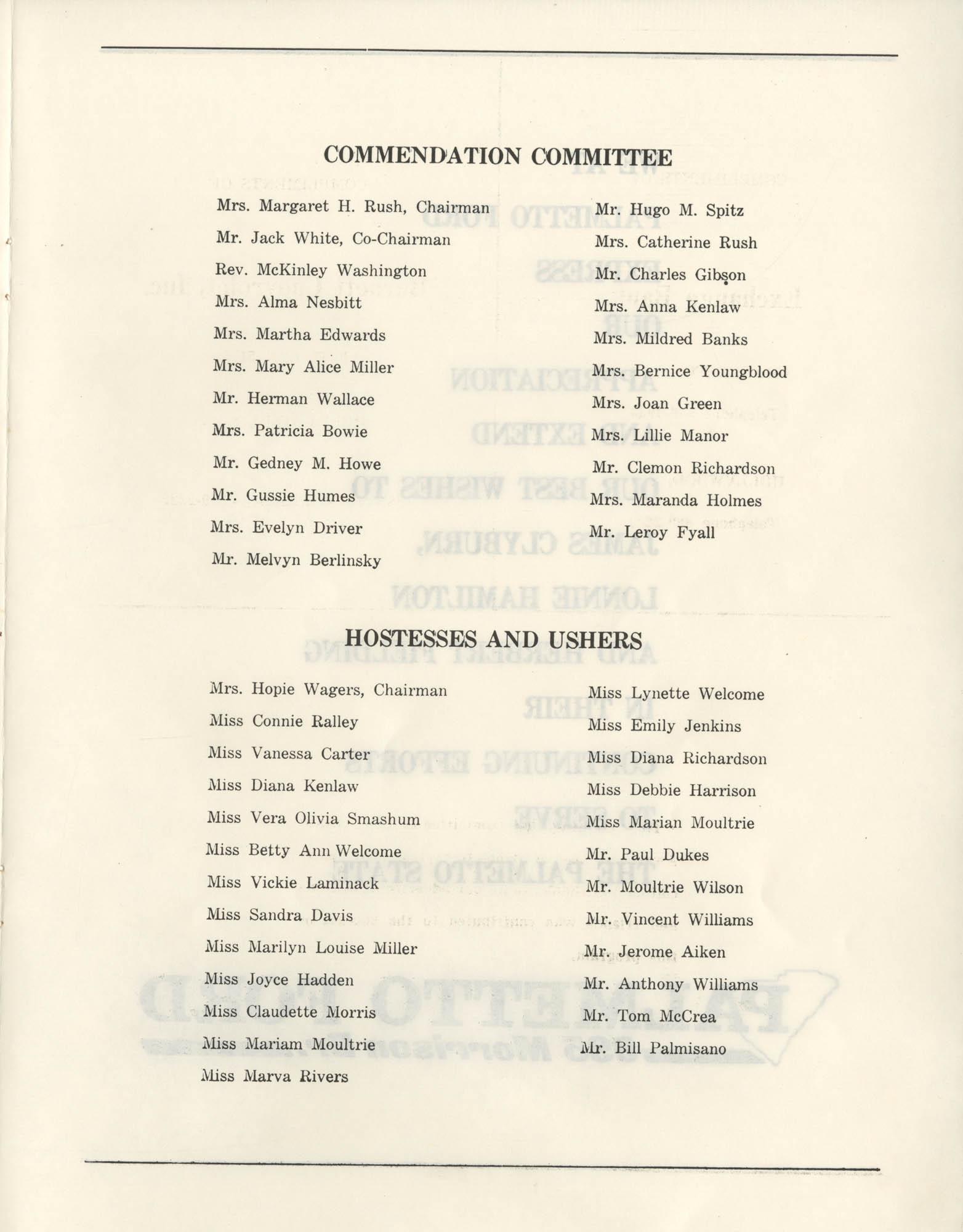 1972 Appreciation Dinner Program, Page 17