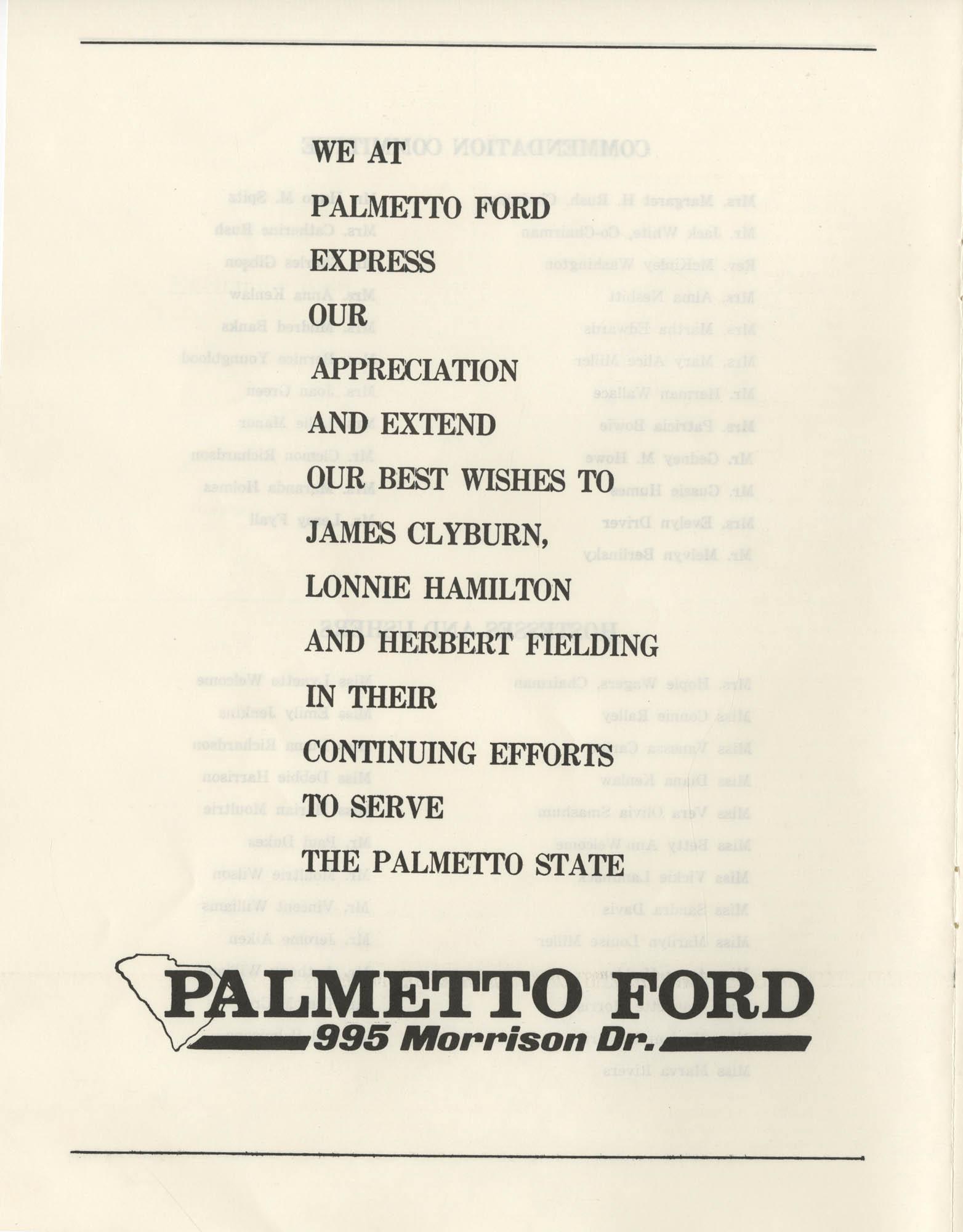 1972 Appreciation Dinner Program, Page 18