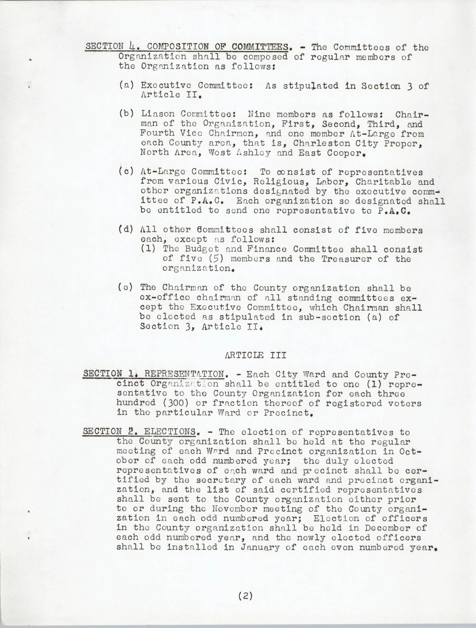 Constitution and By-Laws, Page 2
