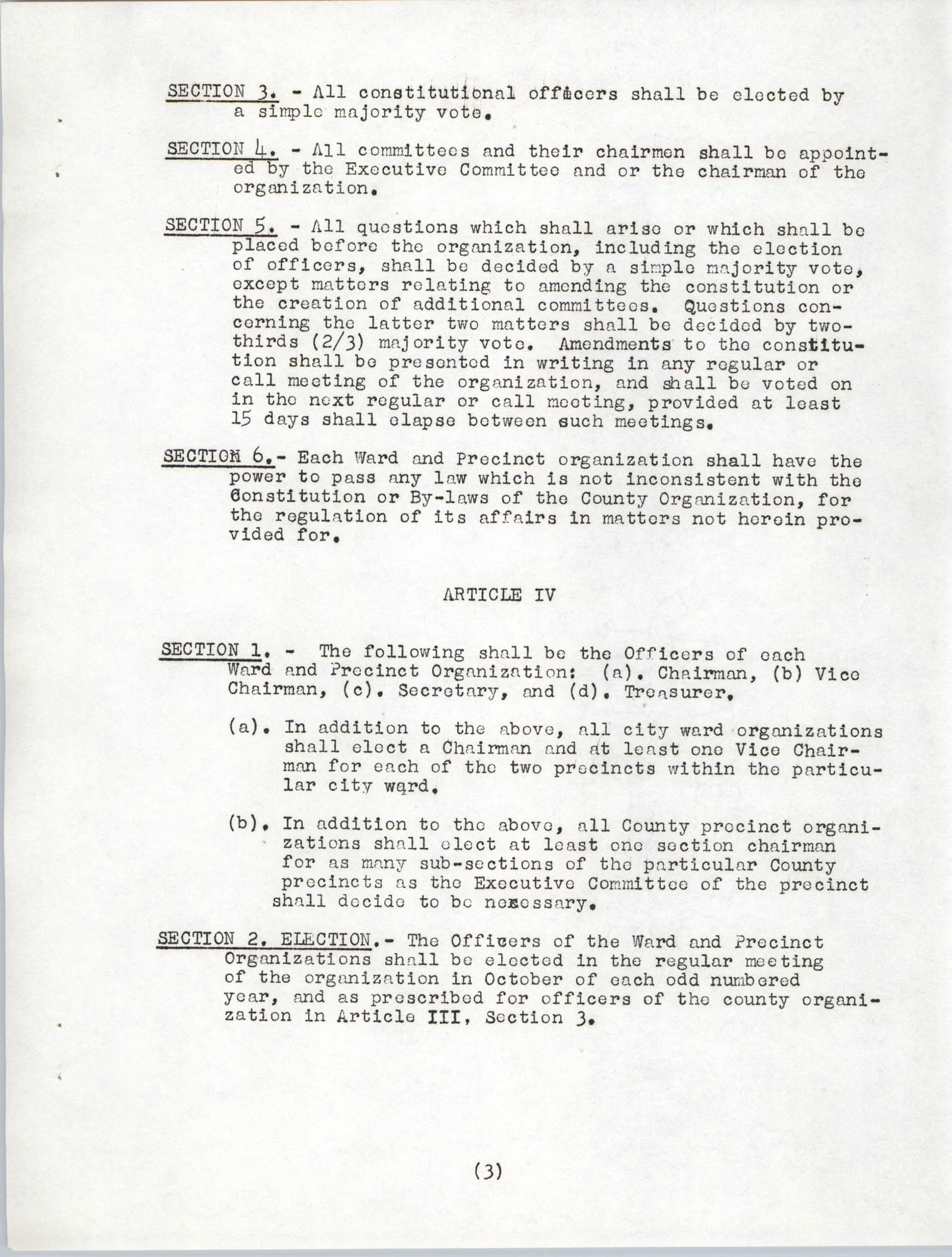 Constitution and By-Laws, Page 3