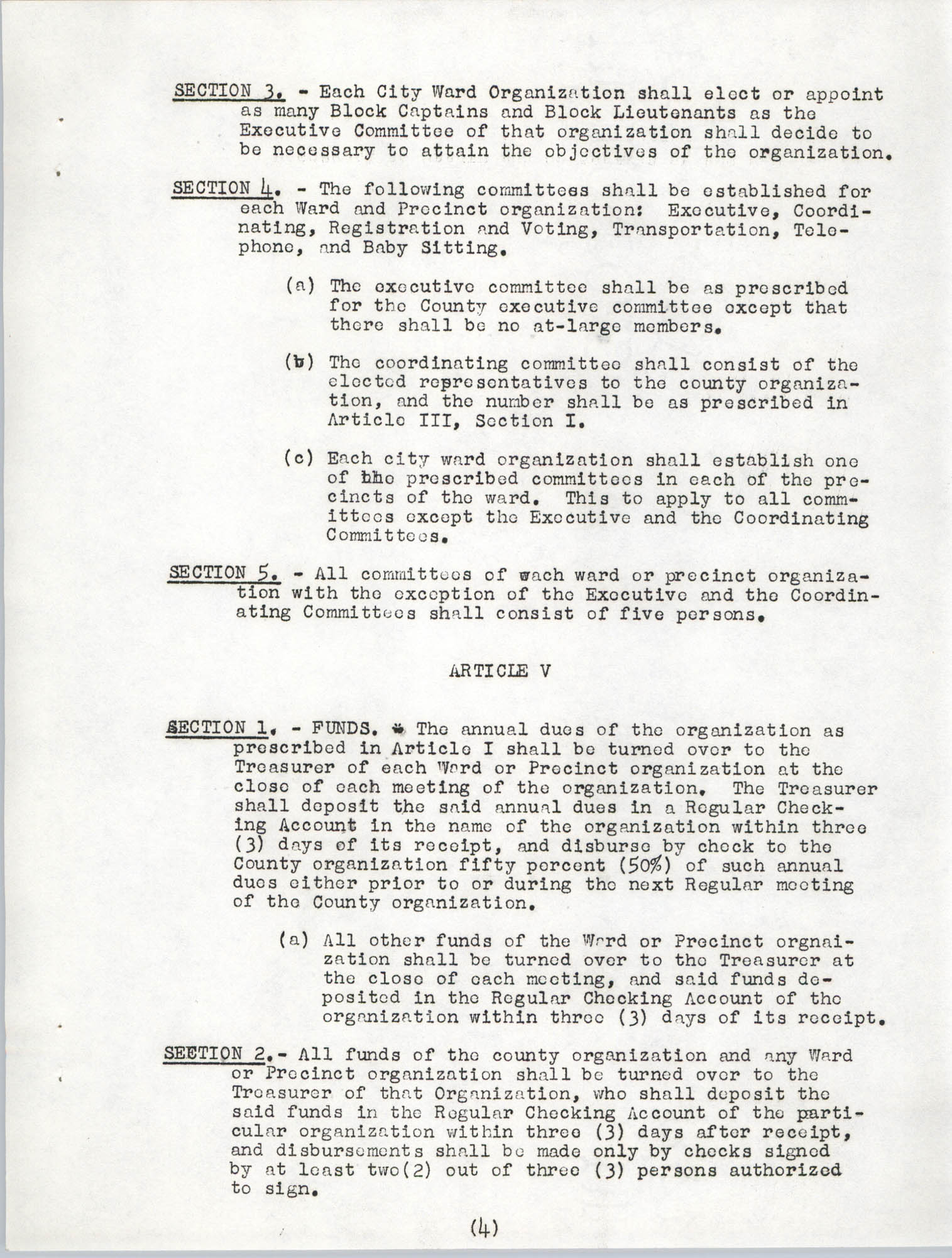 Constitution and By-Laws, Page 4