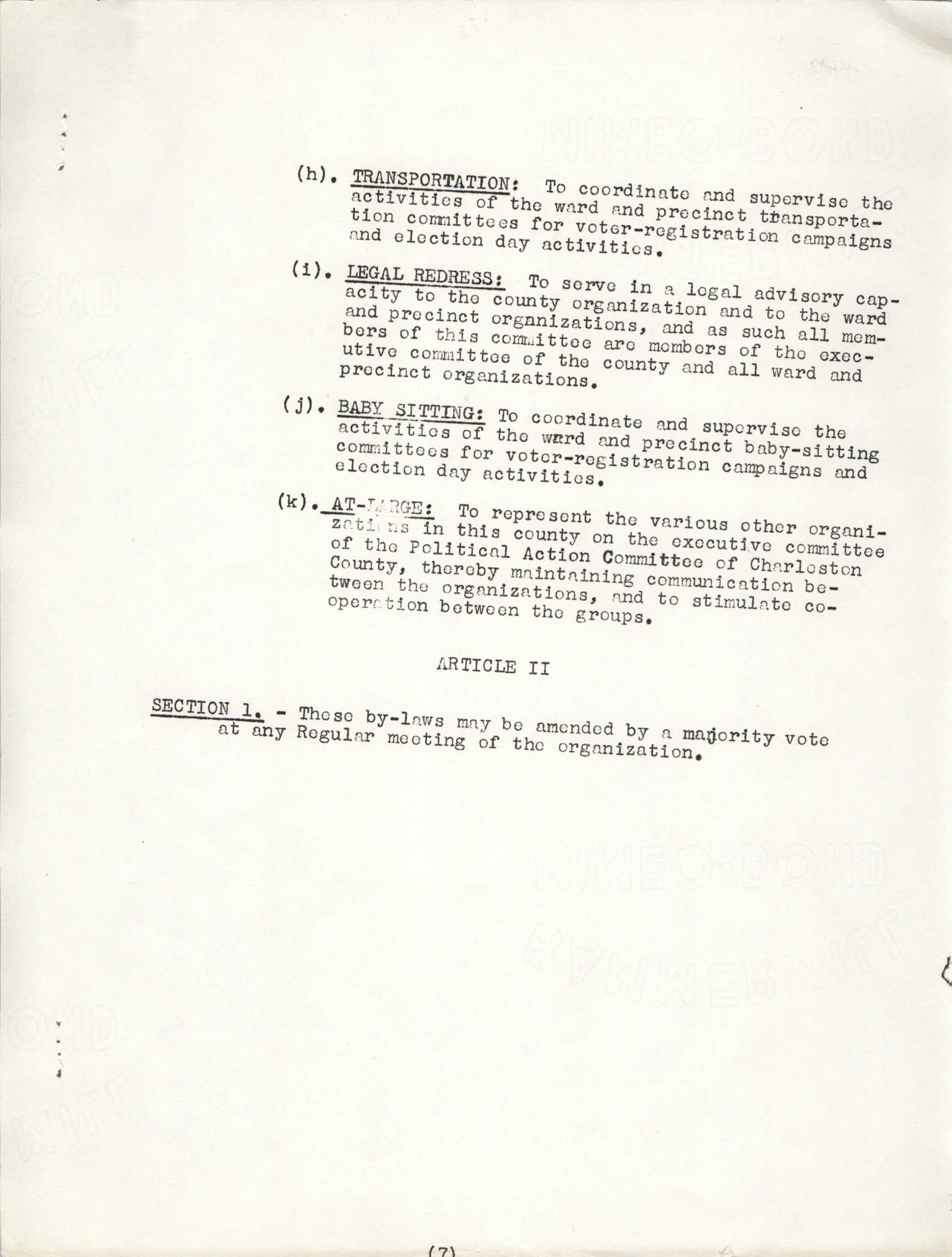 Constitution and By-Laws, Page 7