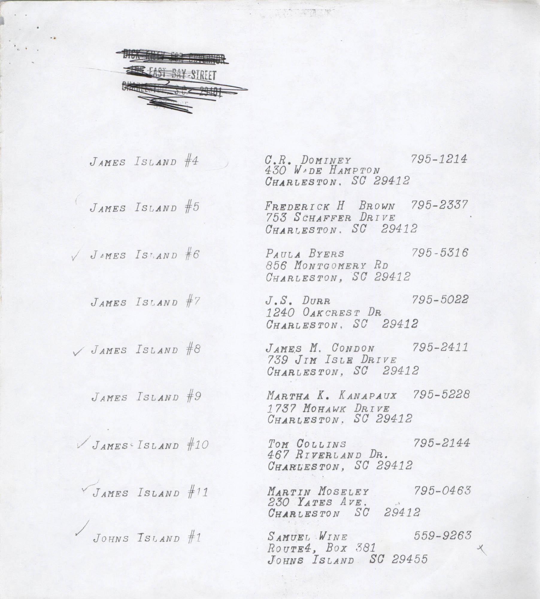 Directory of South Carolina Individuals, Page 7