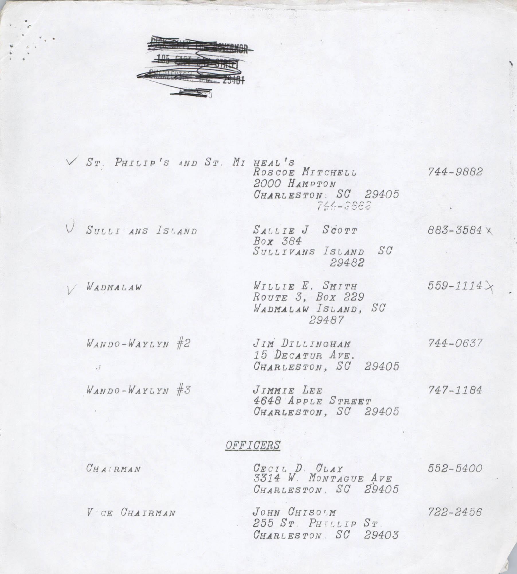 Directory of South Carolina Individuals, Page 12