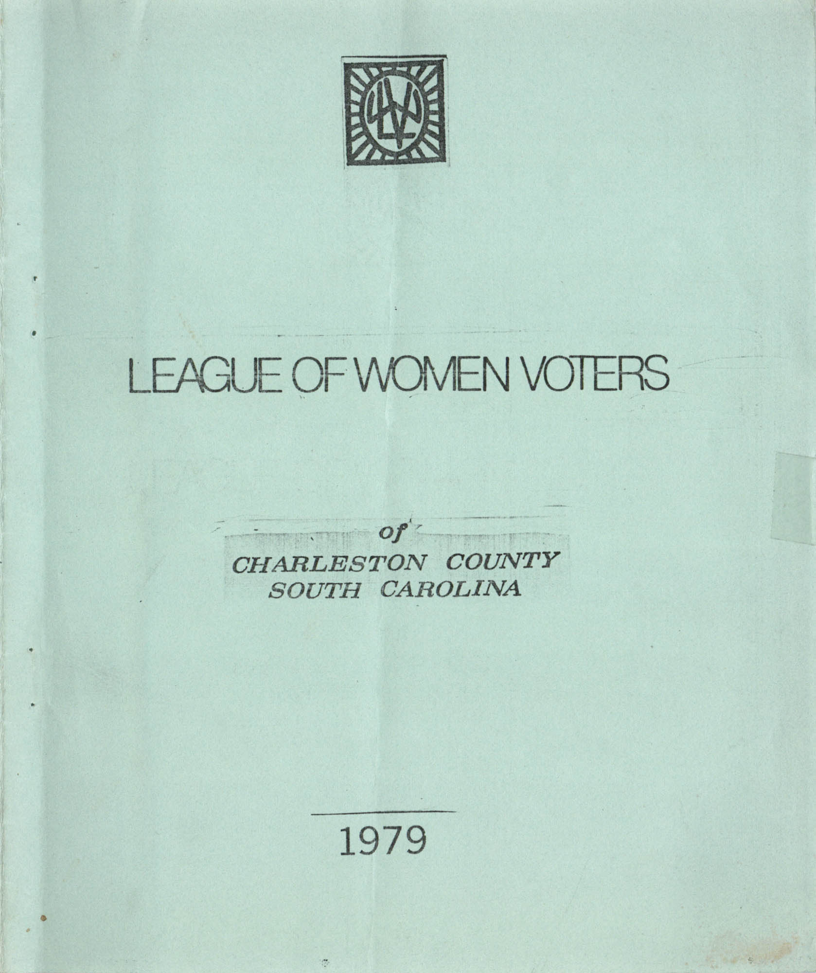 League of Women Voters, Front Cover