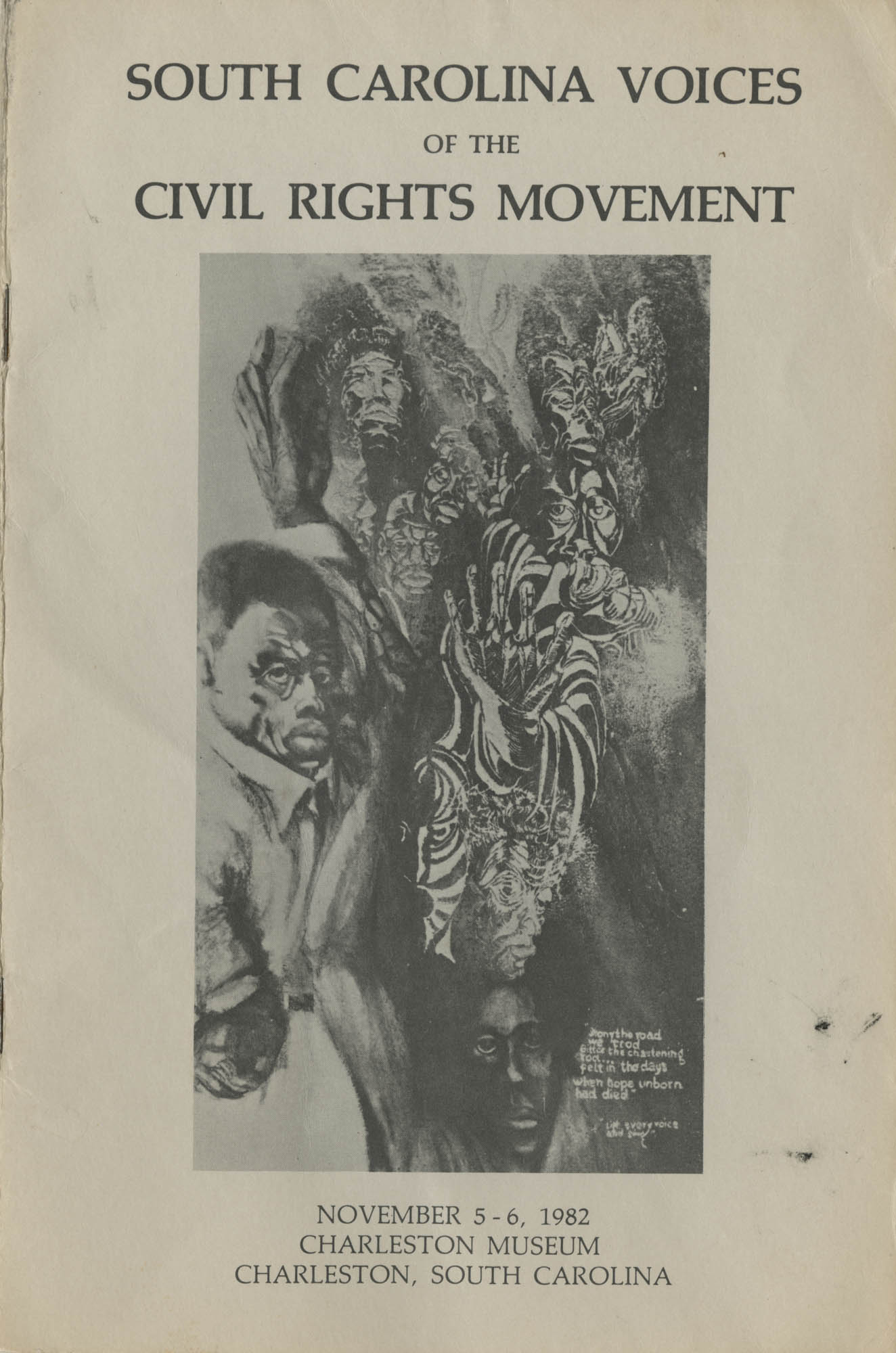 South Carolina Voices of the Civil Rights Movement, Front Cover