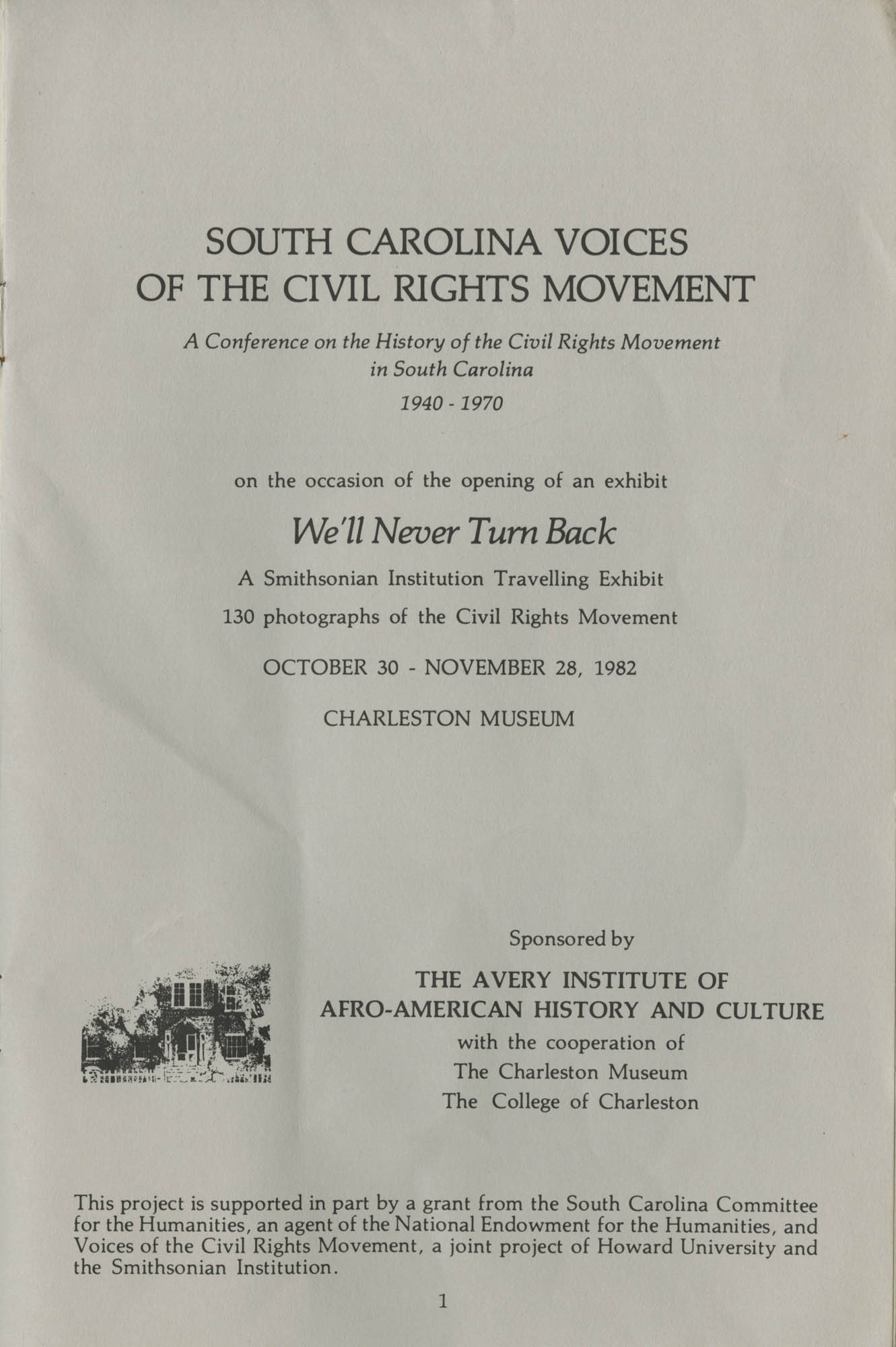 South Carolina Voices of the Civil Rights Movement, Page 1