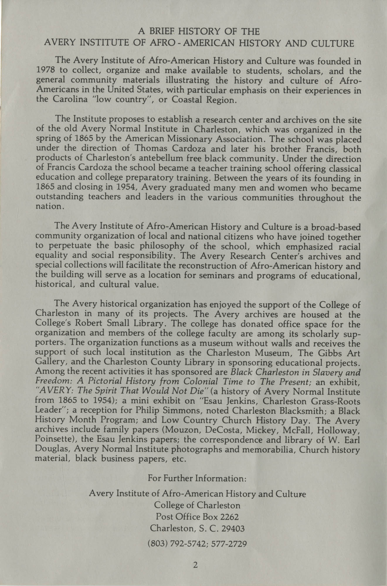South Carolina Voices of the Civil Rights Movement, Page 2