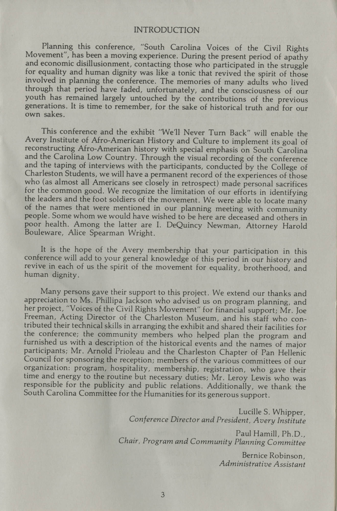 South Carolina Voices of the Civil Rights Movement, Page 3