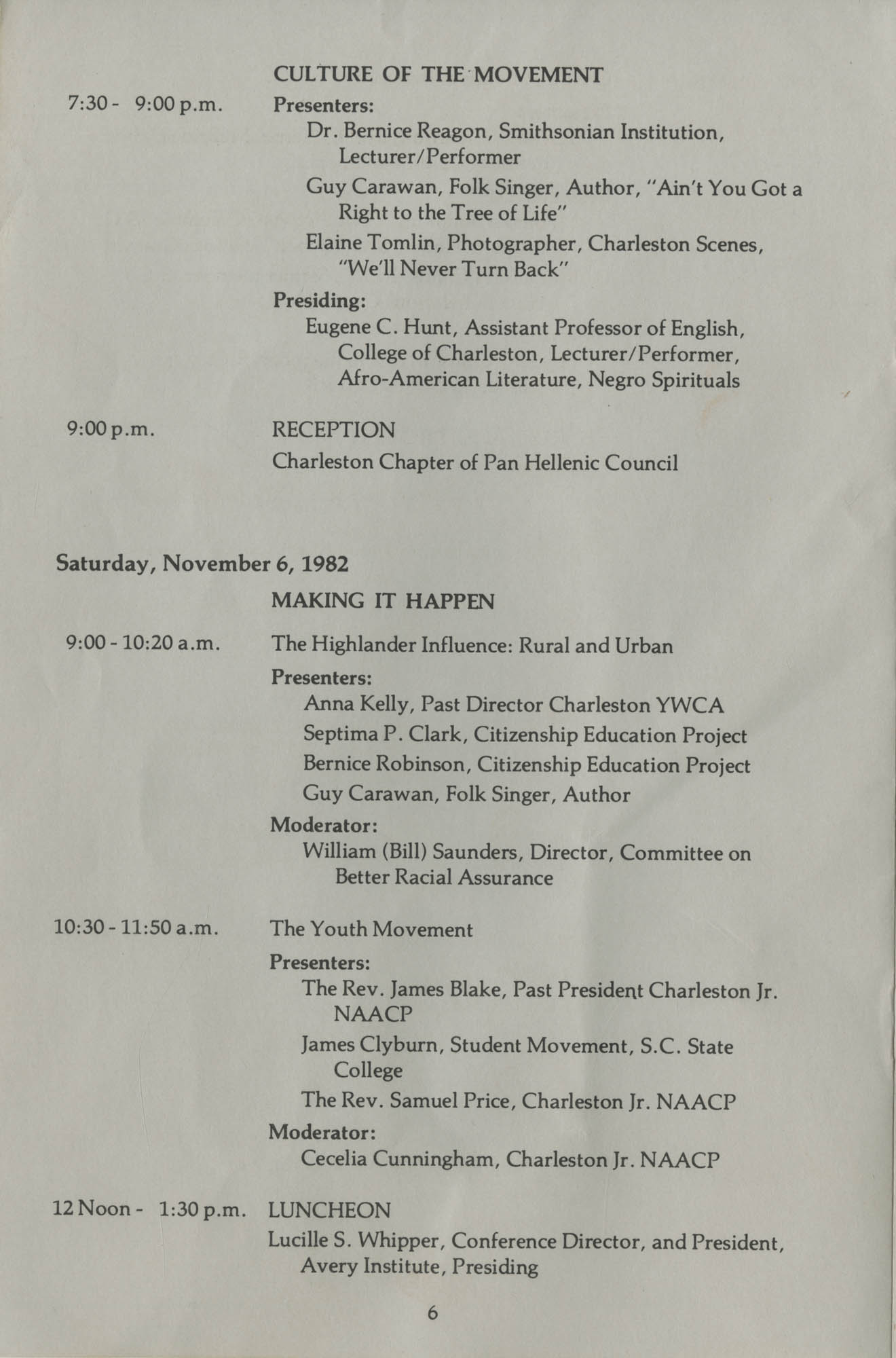 South Carolina Voices of the Civil Rights Movement, Page 6