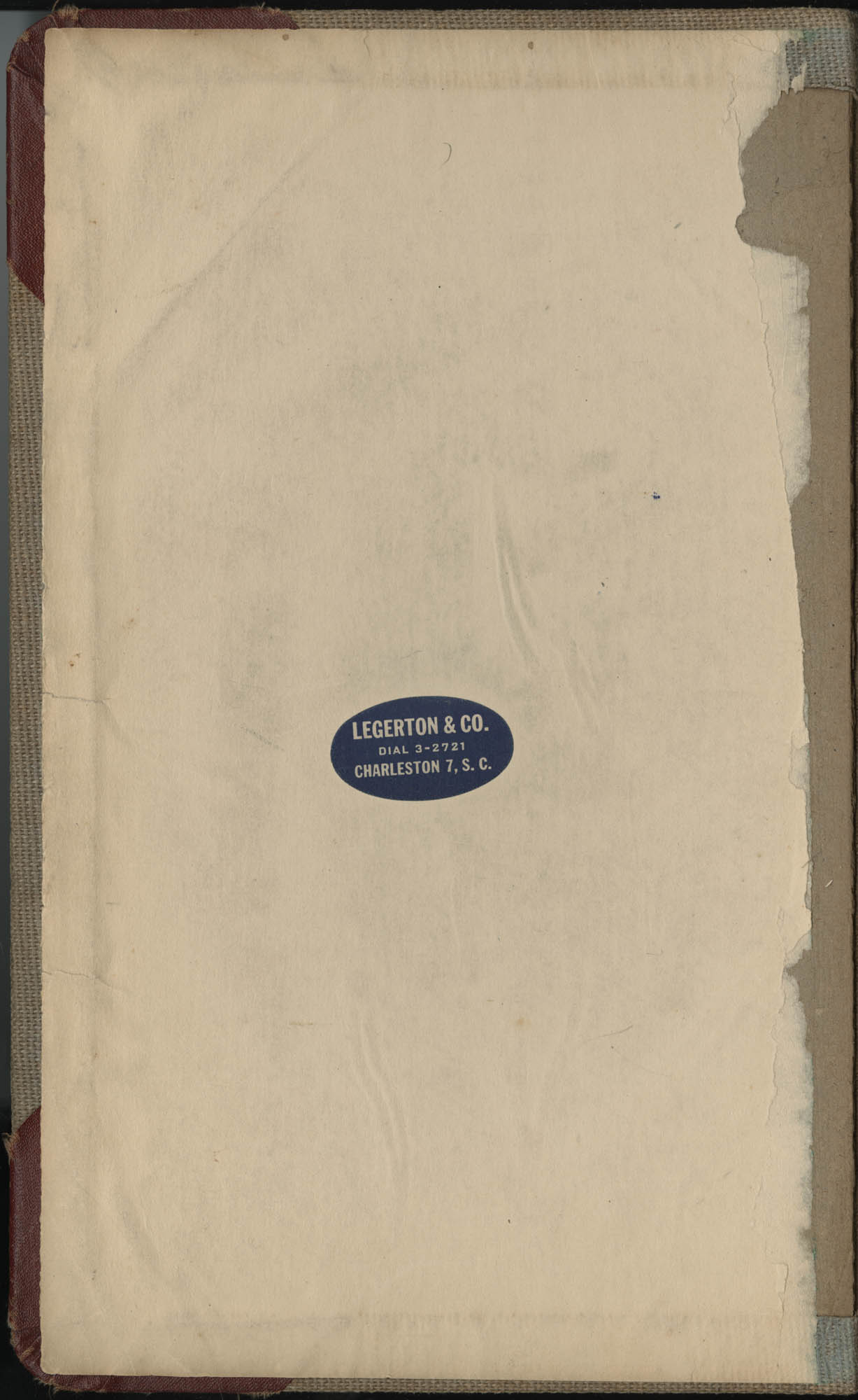 Minutes, Book Lovers' Club, 1944-1958, Front Cover Interior