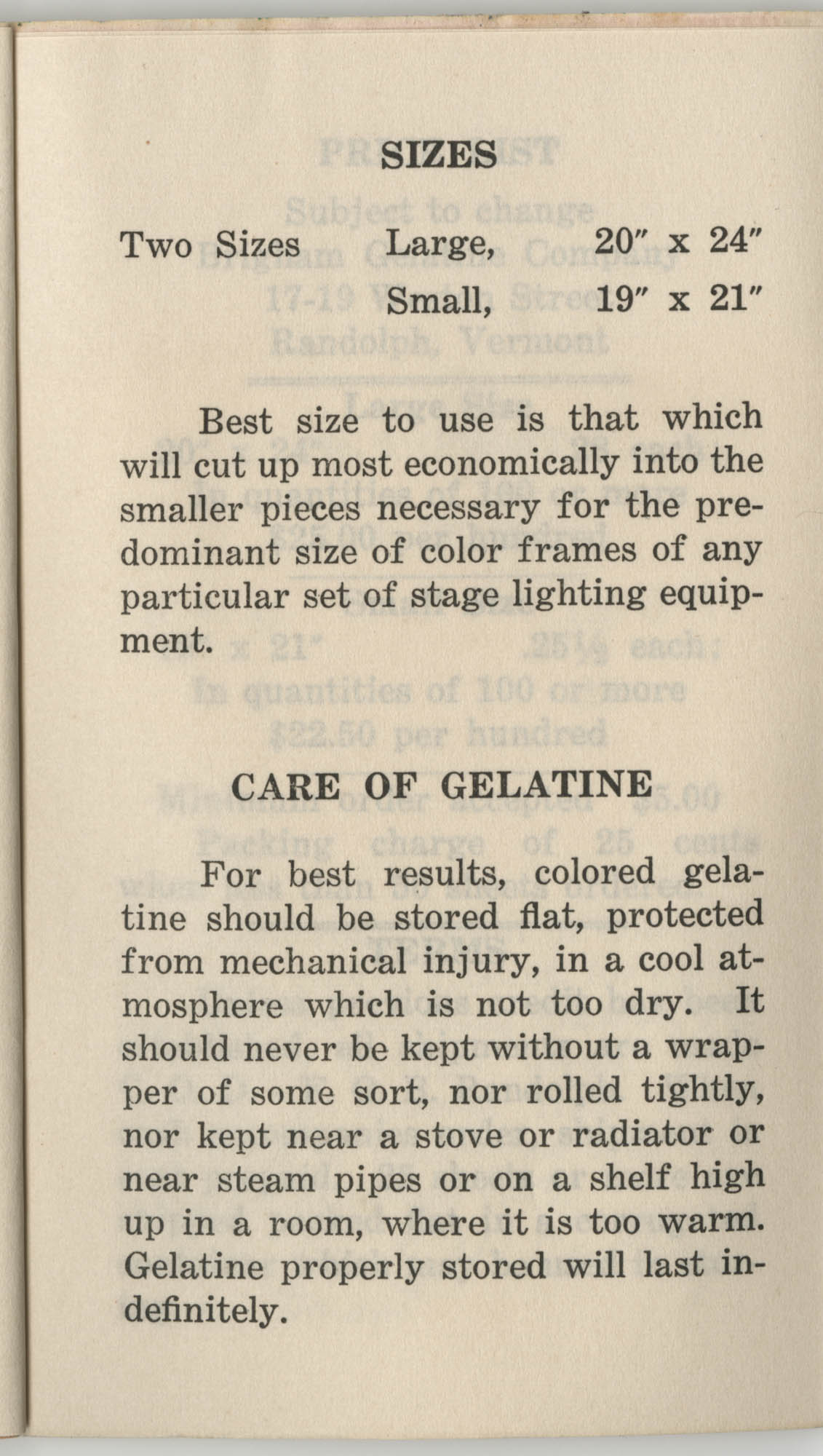 Colored Gelatine for the Theatre School and Community Playhouse, Page 3