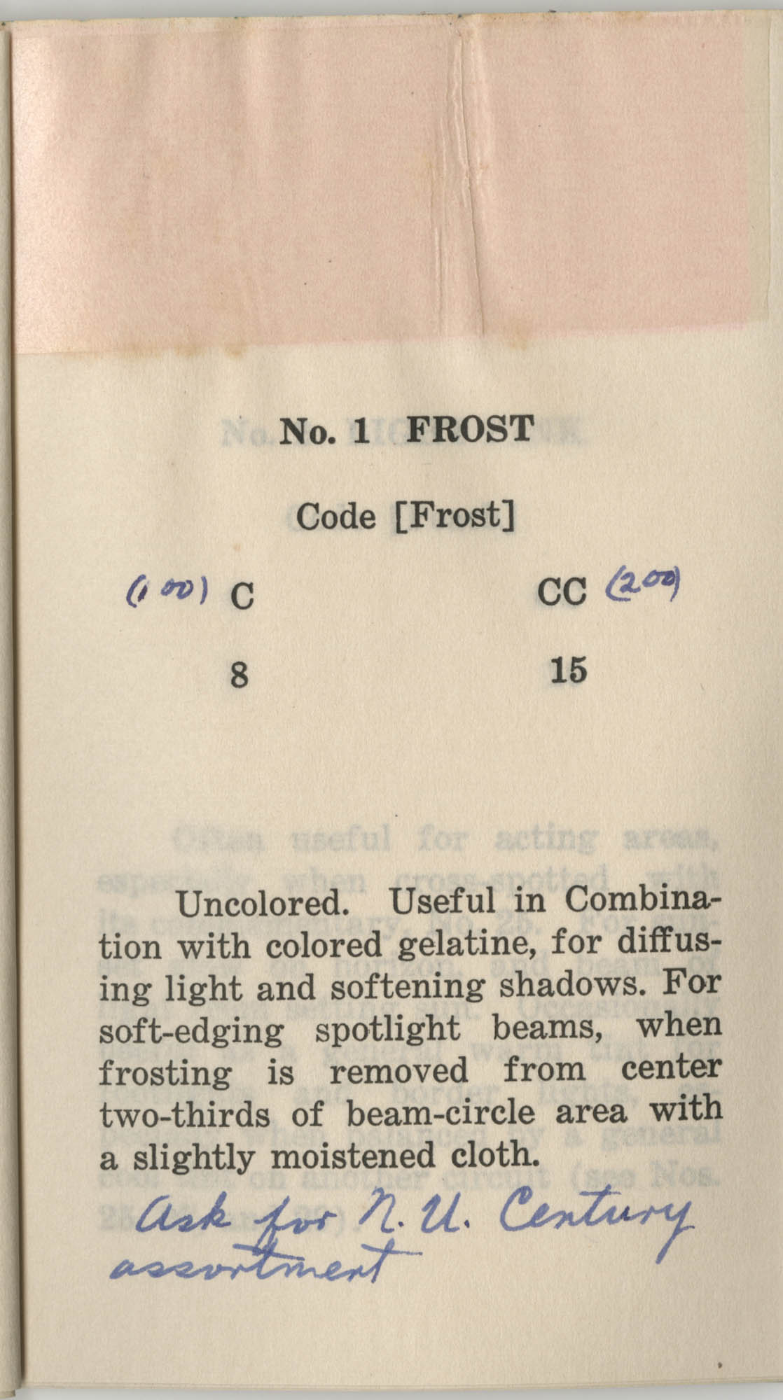 Colored Gelatine for the Theatre School and Community Playhouse, Page 5