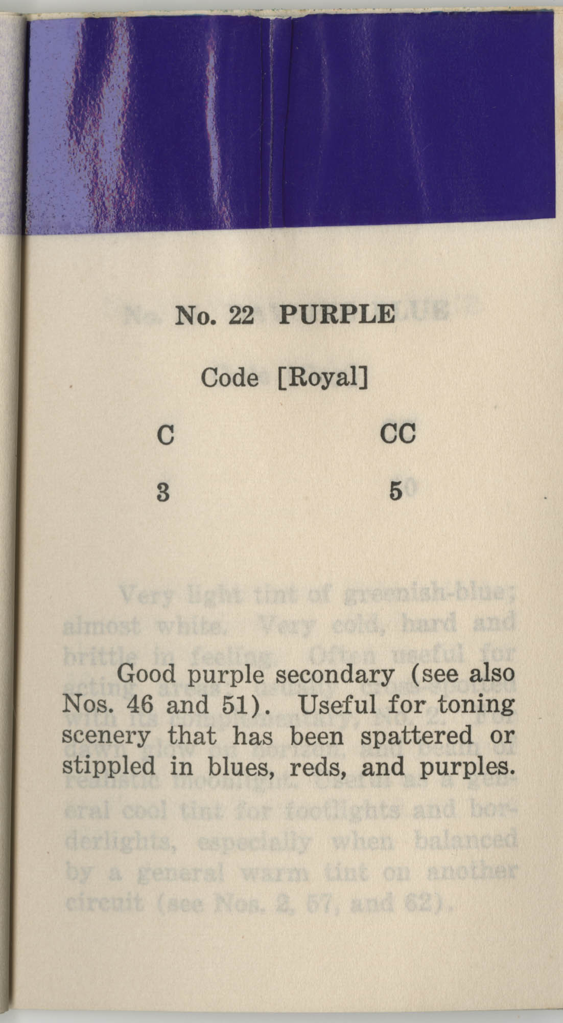 Colored Gelatine for the Theatre School and Community Playhouse, Page 10