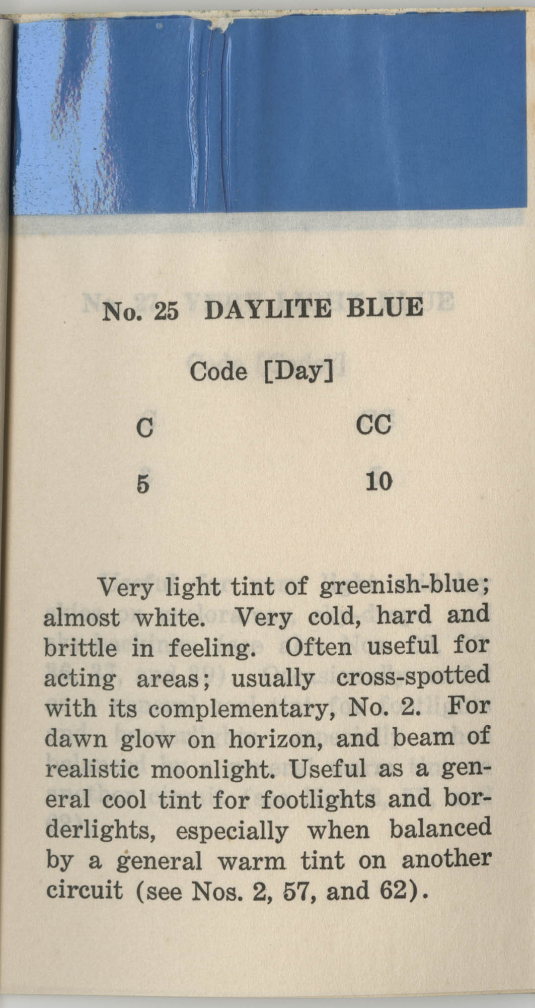 Colored Gelatine for the Theatre School and Community Playhouse, Page 11