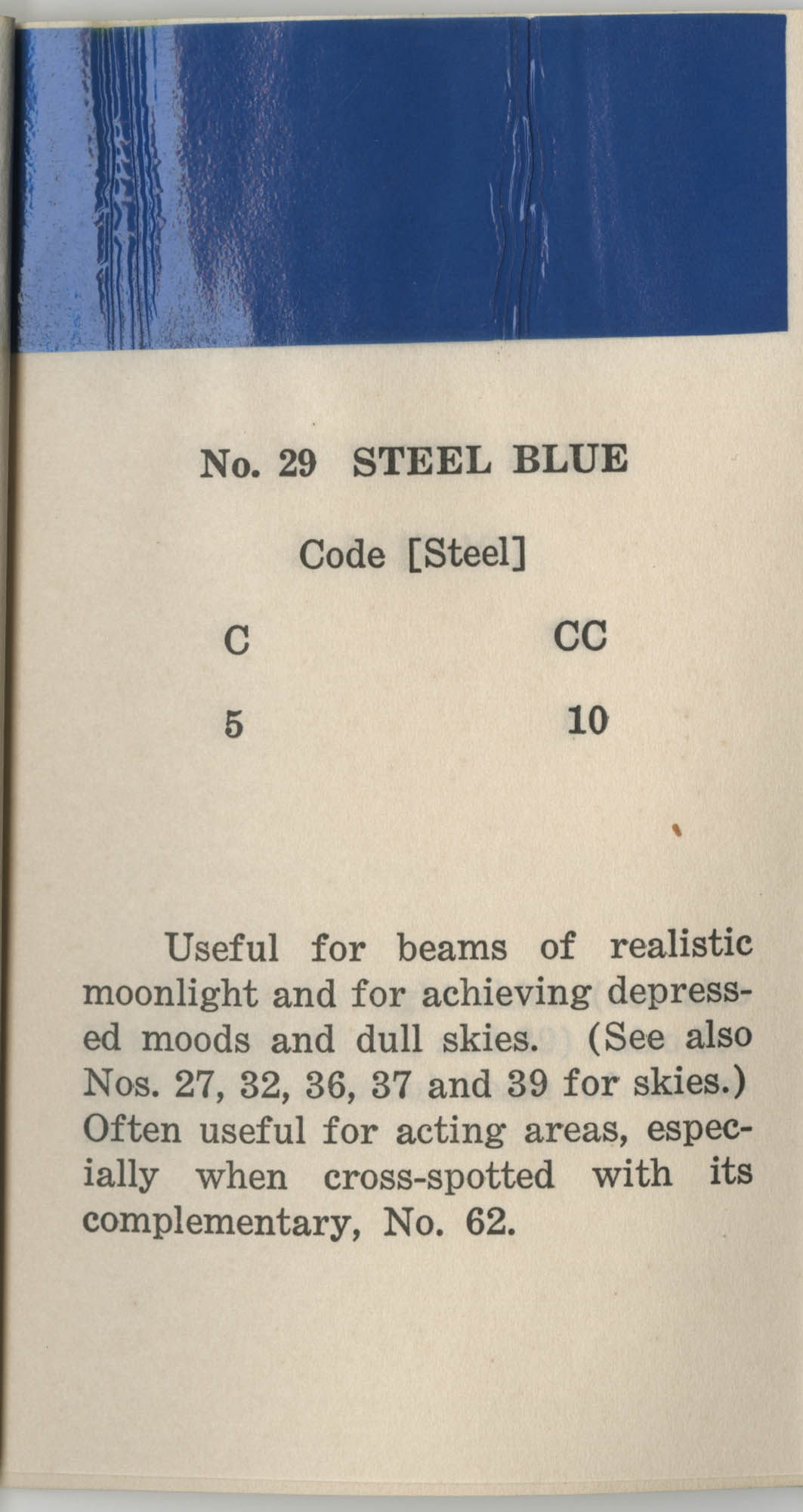 Colored Gelatine for the Theatre School and Community Playhouse, Page 13
